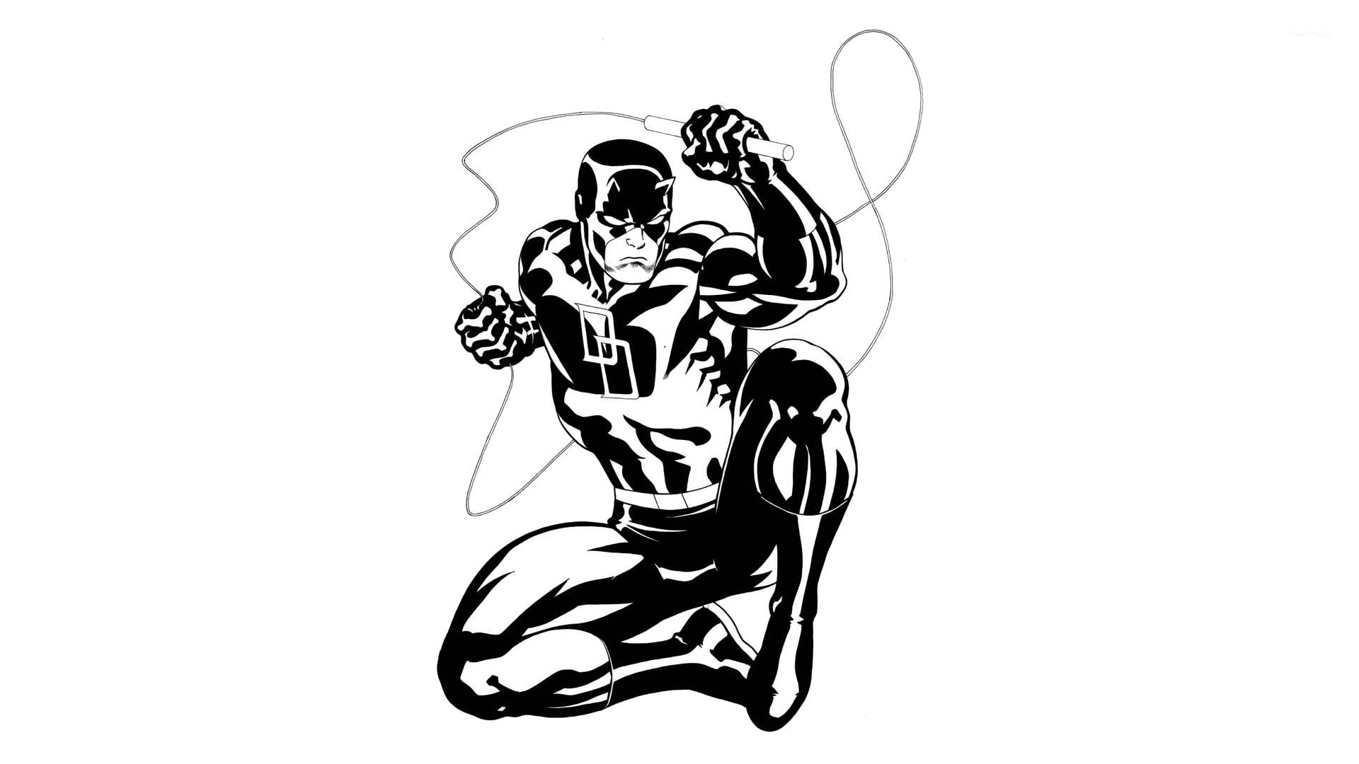 Black and white Daredevil wallpaper jpg