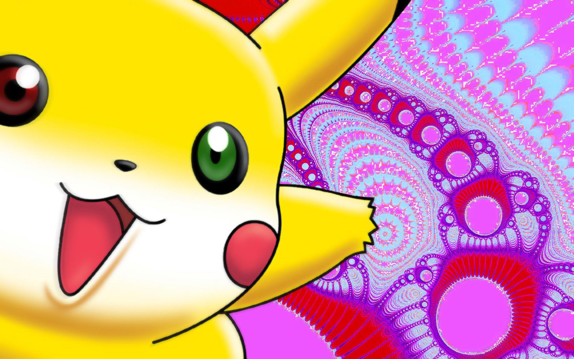 … Pokemon Pikachu fractals funny wallpaper …