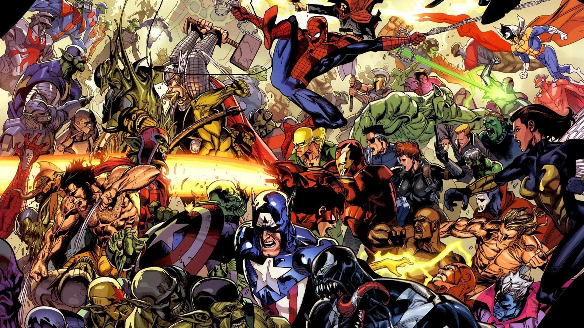 Cool screensavers site: Marvel screensaver superheroes wallpaper