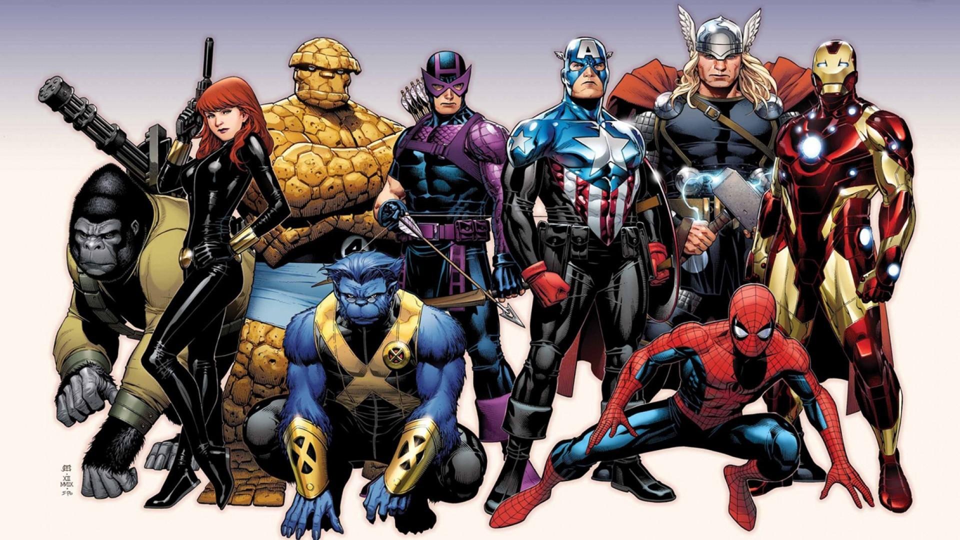 HD Wallpaper Marvel Heroes Download HD Wallpaper Marvel Heroes 1920×1080  Heroes HD Wallpapers (
