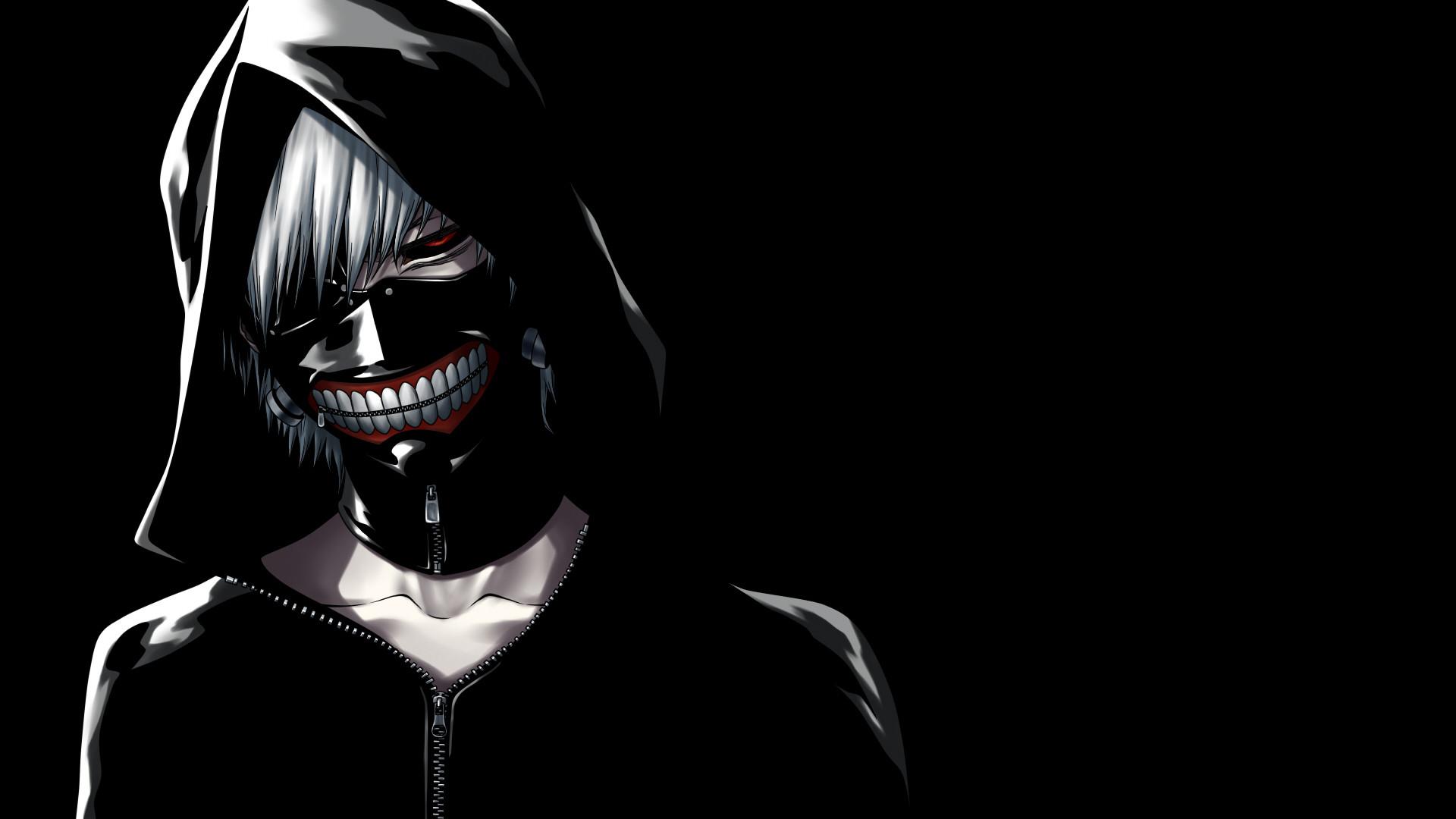 Pictures Masks Tokyo Ghoul Hood headgear Young man Kaneki Ken Anime