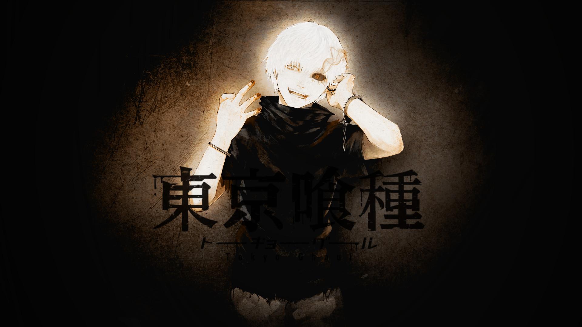 tokyo ghoul kaneki ken white hair wallpaper
