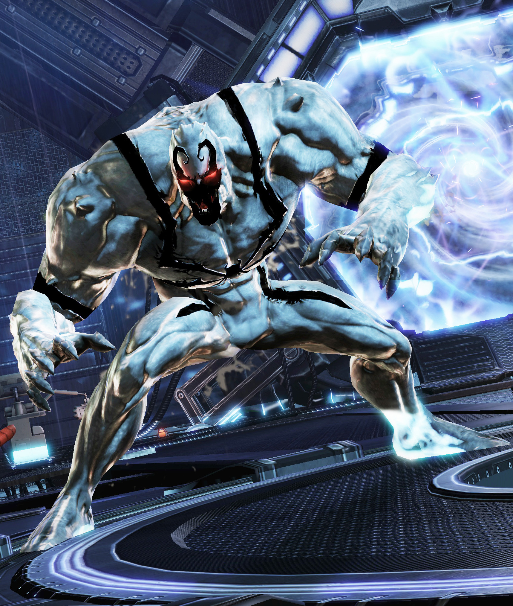 Screenshot of Anti-Venom from Spider-Man From: Edge of Time.