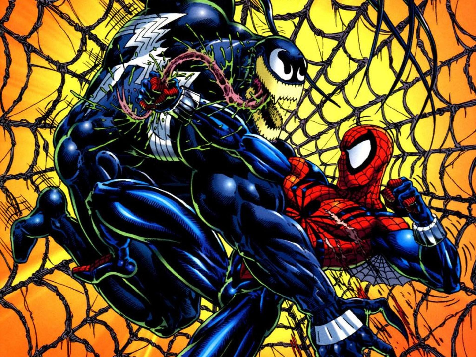 spiderman vs venom wallpaper