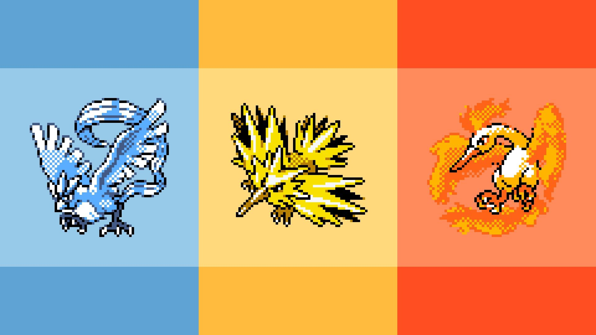 Retro Legendary Pokemon Wallpaper