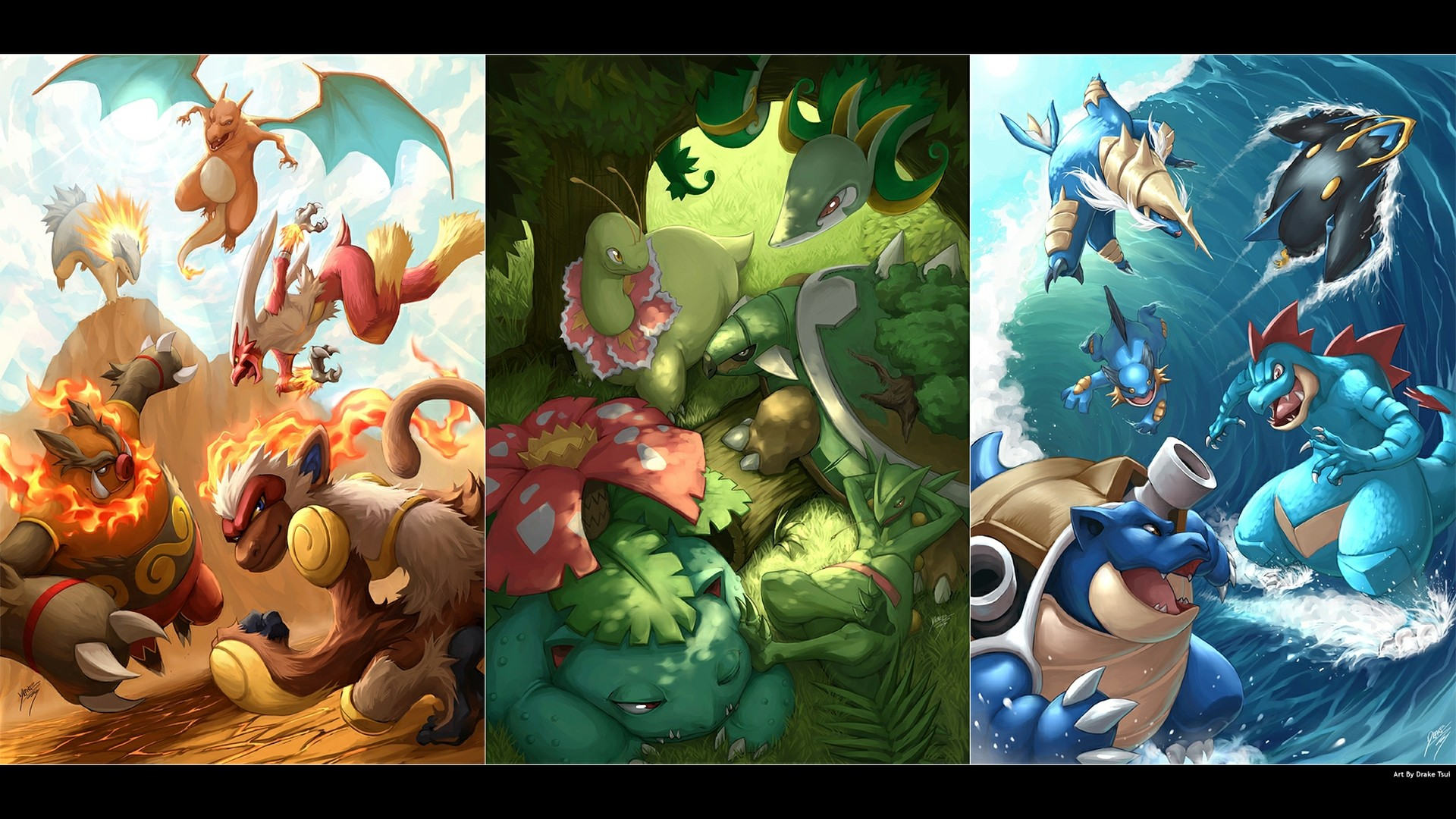 Magnificent Starter Pokemon Wallpapers, #FHF-14
