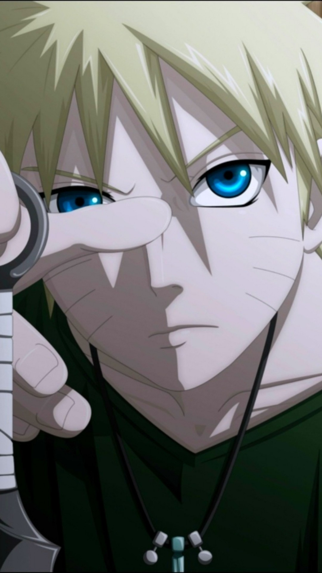 Preview wallpaper naruto, guy, blond, hand 1080×1920