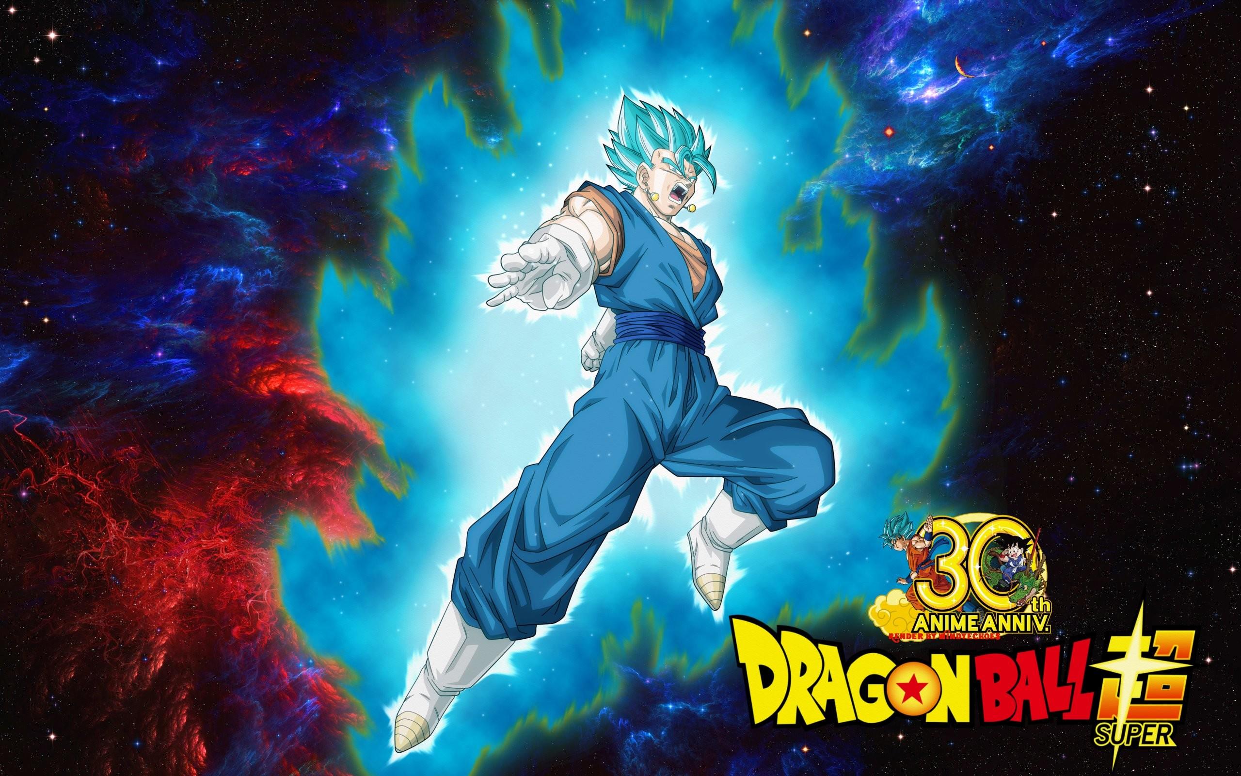 … Dragon Ball Super Wallpaper – Vegito Saiyan Blue by WindyEchoes