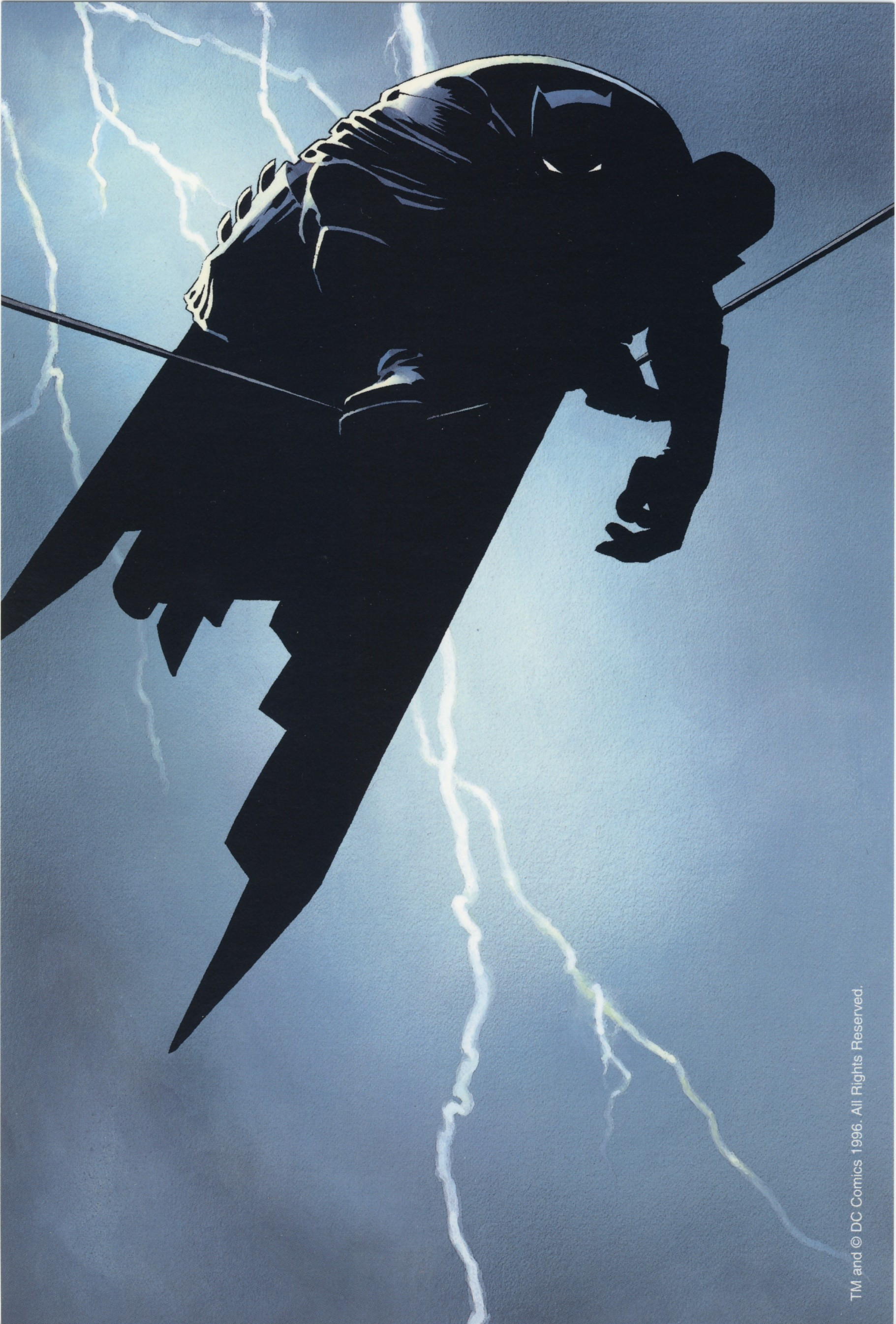 Dark Knight – Frank Miller – this poster got me back into batman after the  terrible movies came out.