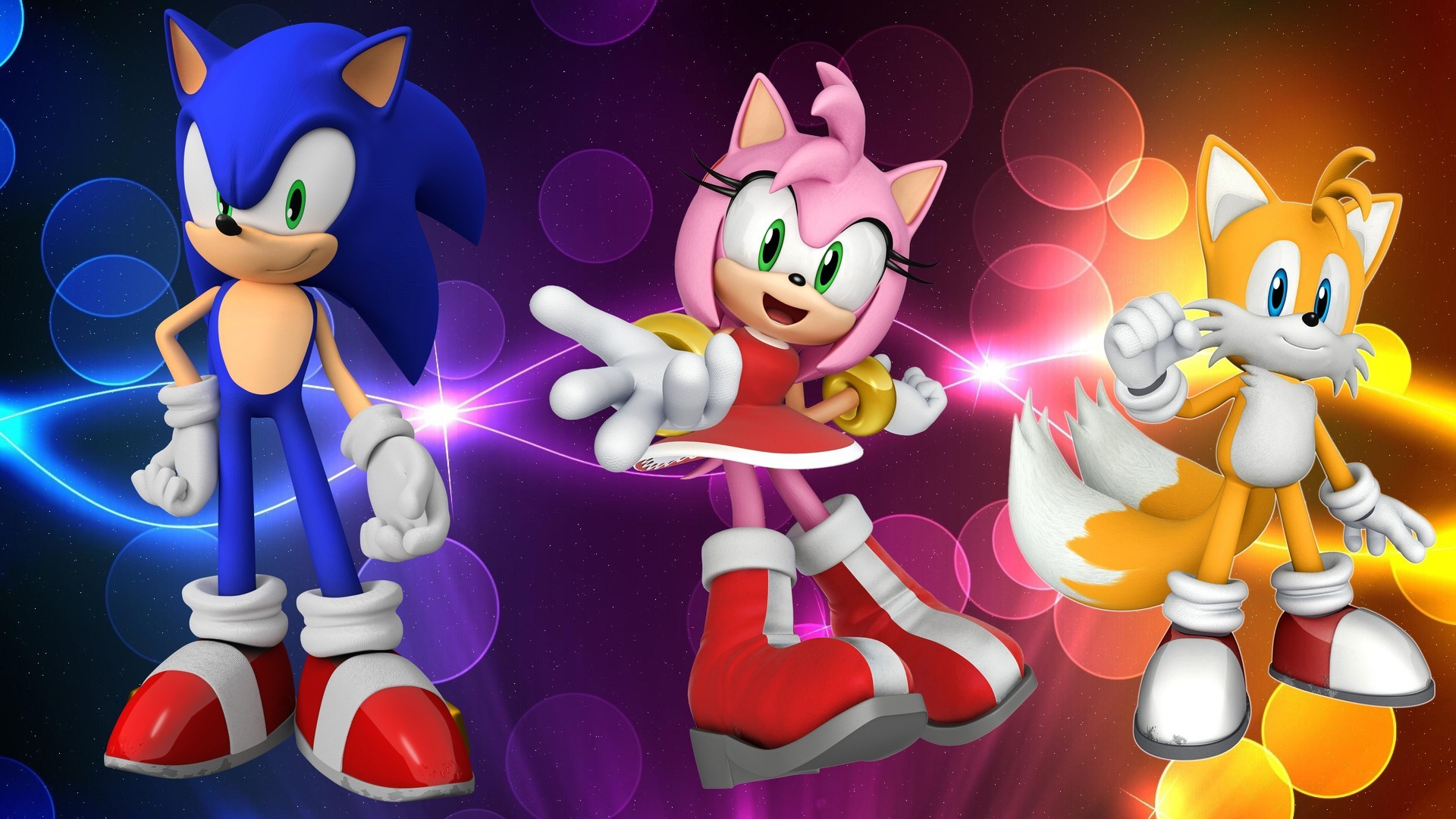 Sonic, Amy & Tails HD Spunky Wallpaper Free HD Wallpaper .