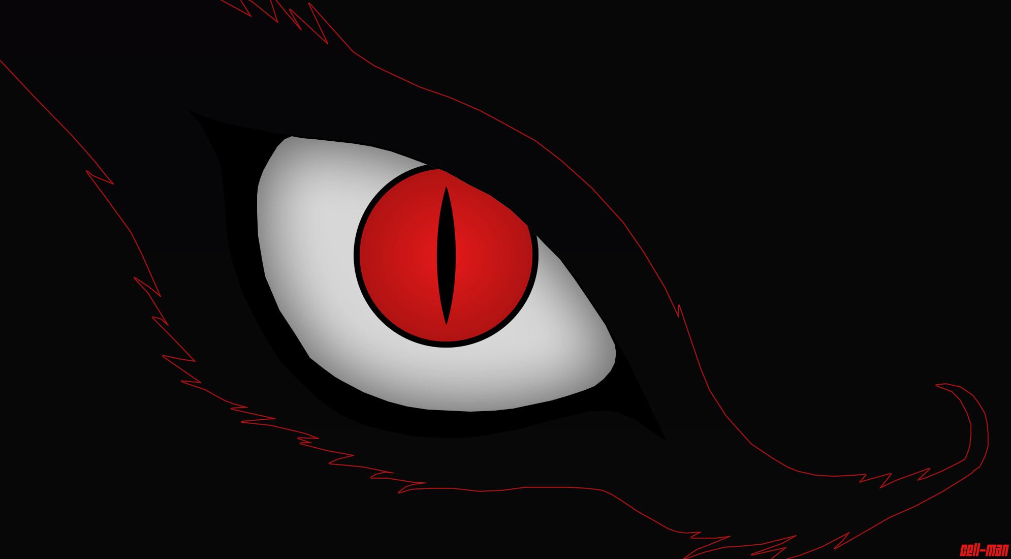 … Kyuubi (Nine Tails Demon Fox)'s Eye Wallpaper by CELL-MAN