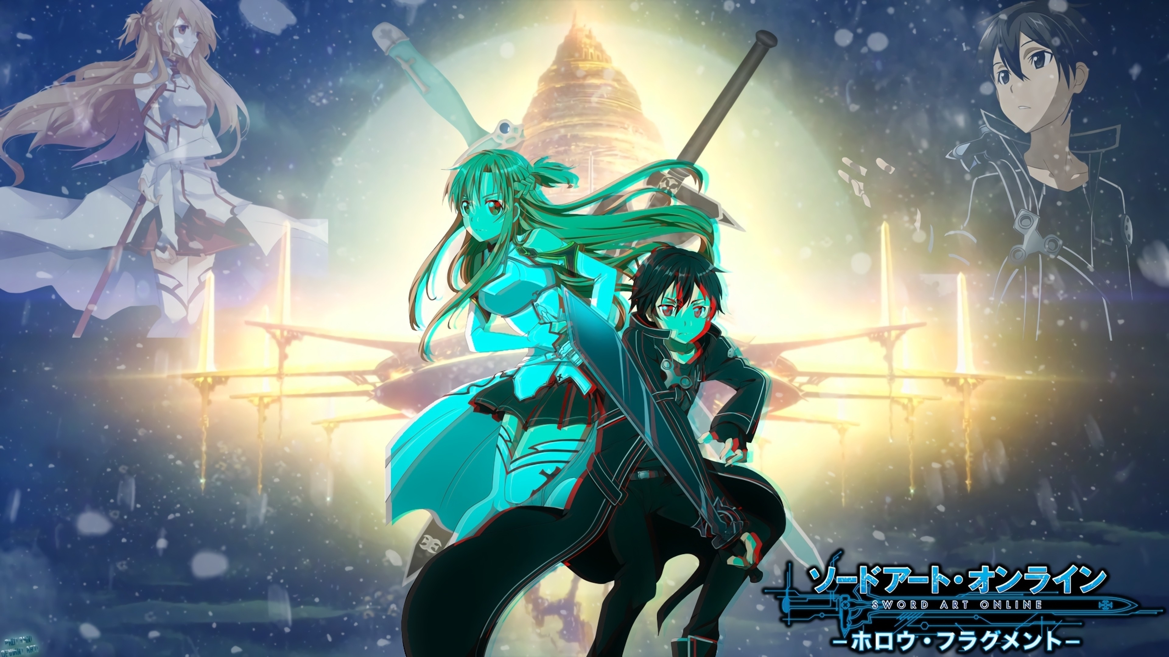 Sword Art Online, Yuuki Asuna, Kirito, Sao
