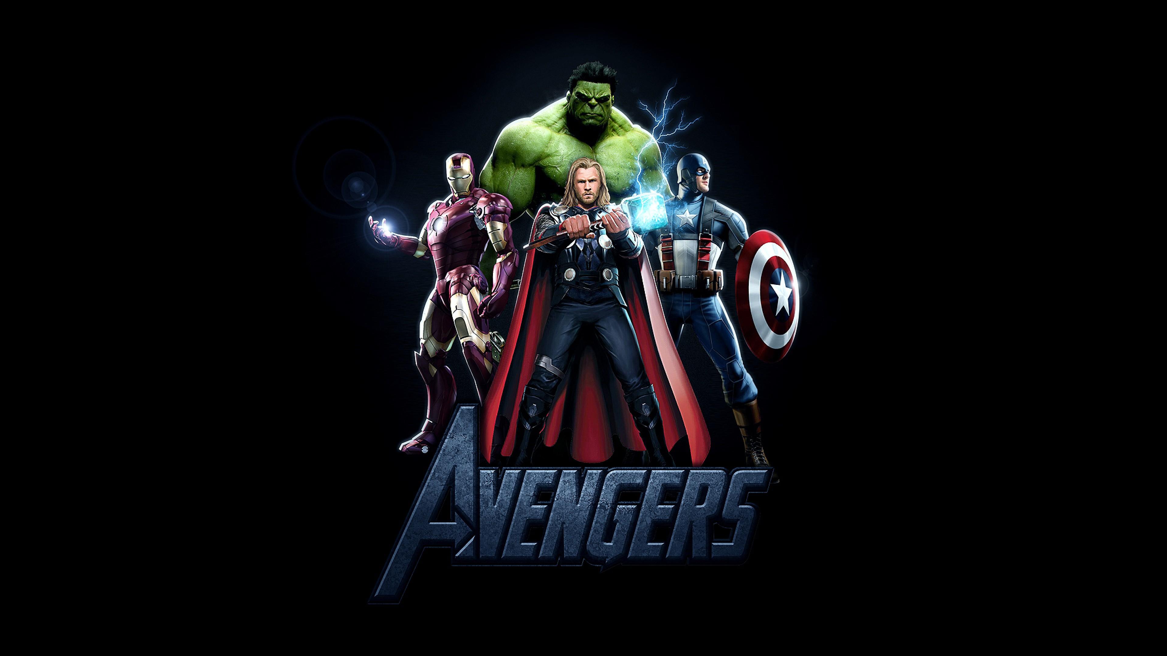 Preview wallpaper hellboy, iron man, captain america, thor, marvel comics,  avengers