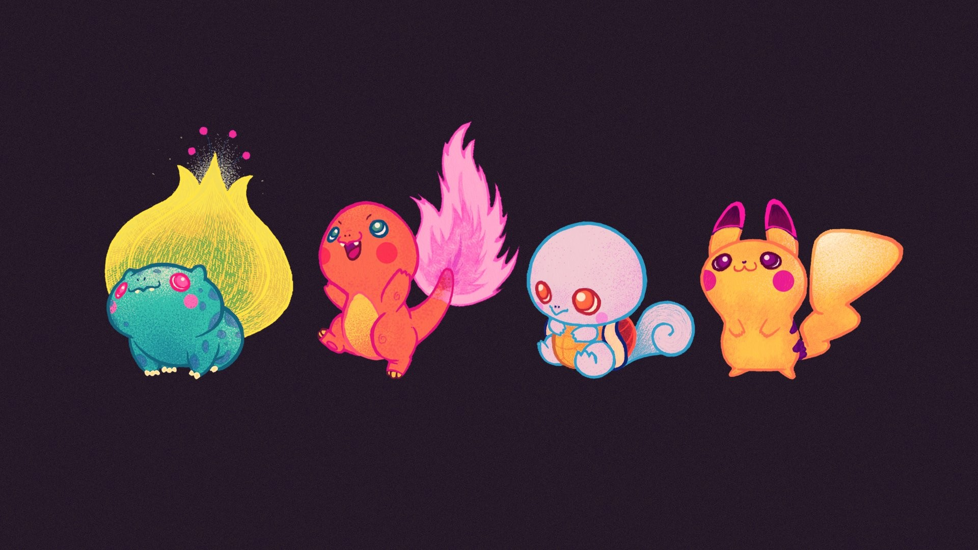 Neon Pokemon Wallpaper