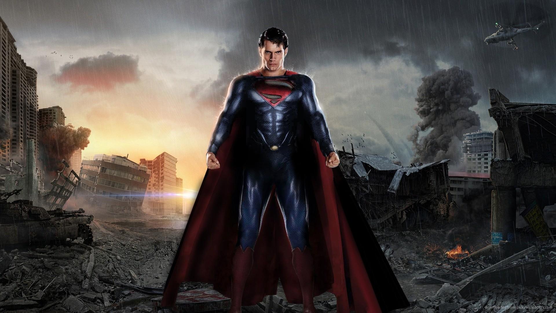 Download Man Of Steel Superman Between The Ruins Wallpaper