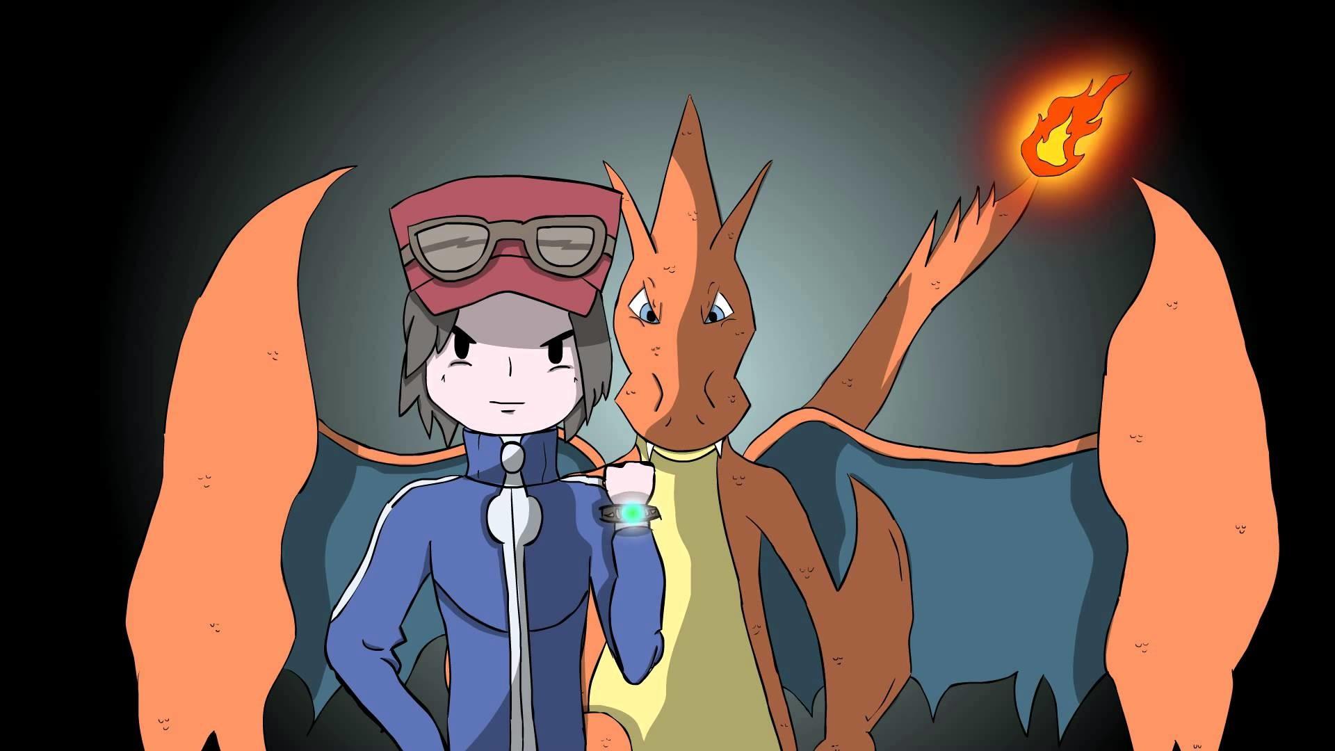 Epic PokeRemix Pokemon X & Y Mega Charizard Y and Triainer Animation –  YouTube