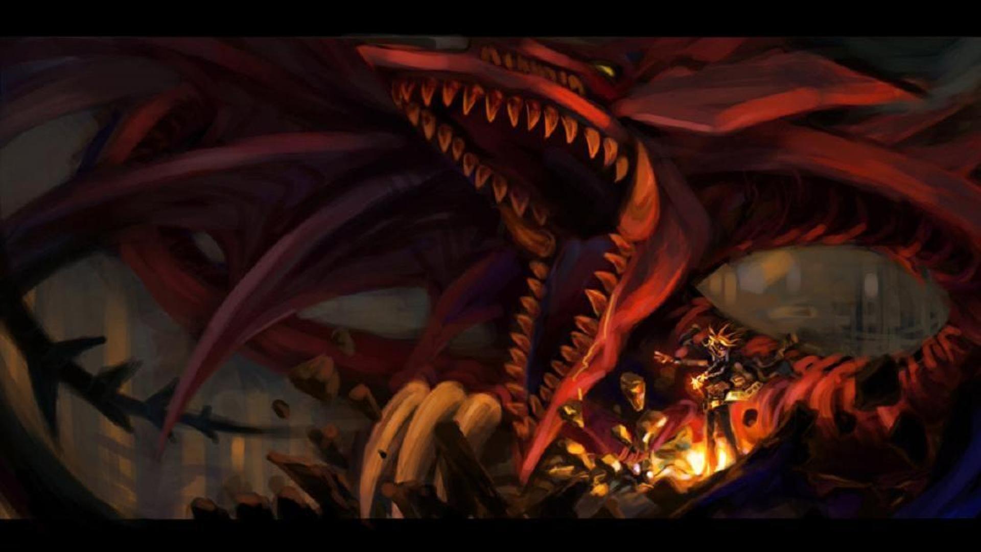 wallpaper: Slifer the Sky Dragon, video games, Yugi, Yu-Gi-
