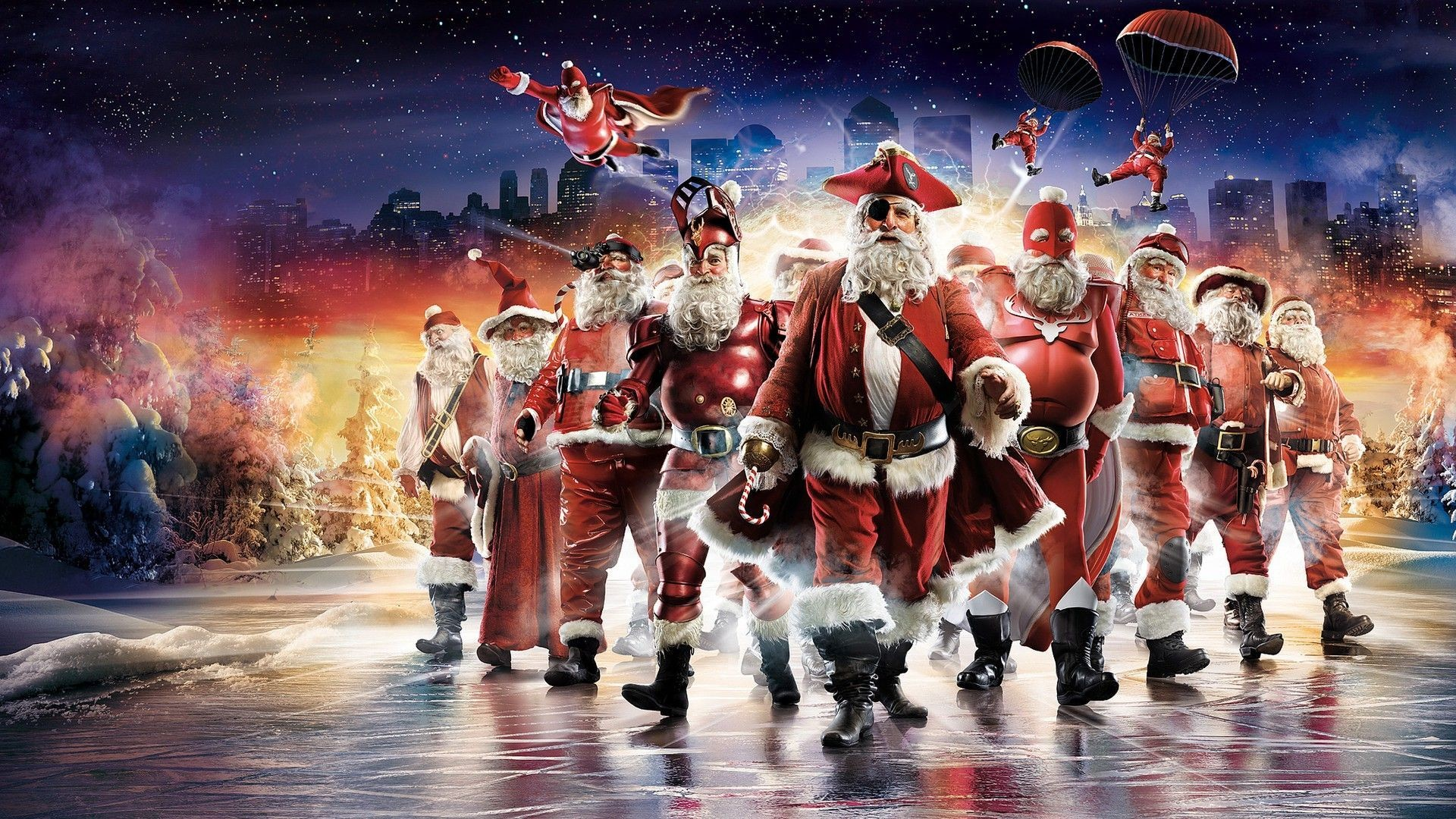 Christmas superheroes wallpaper #16253