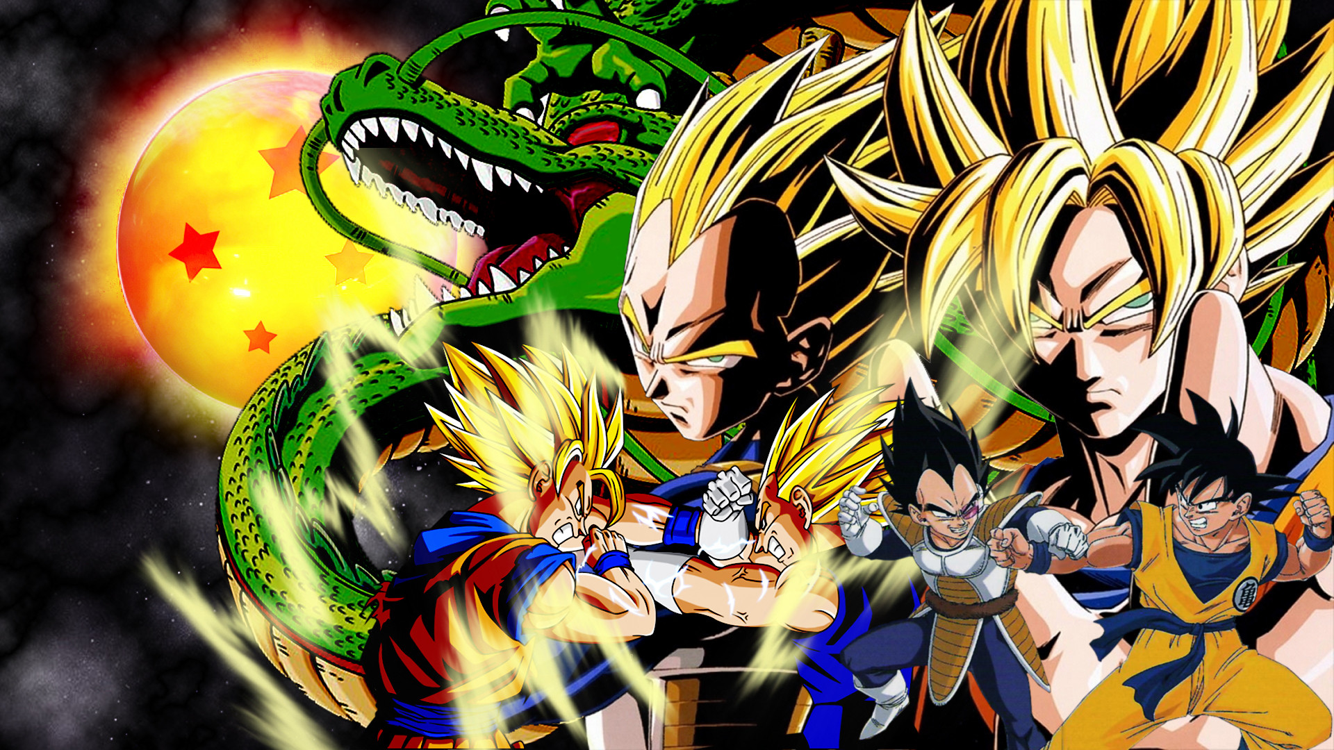 Goku vs vegeta wallpaper