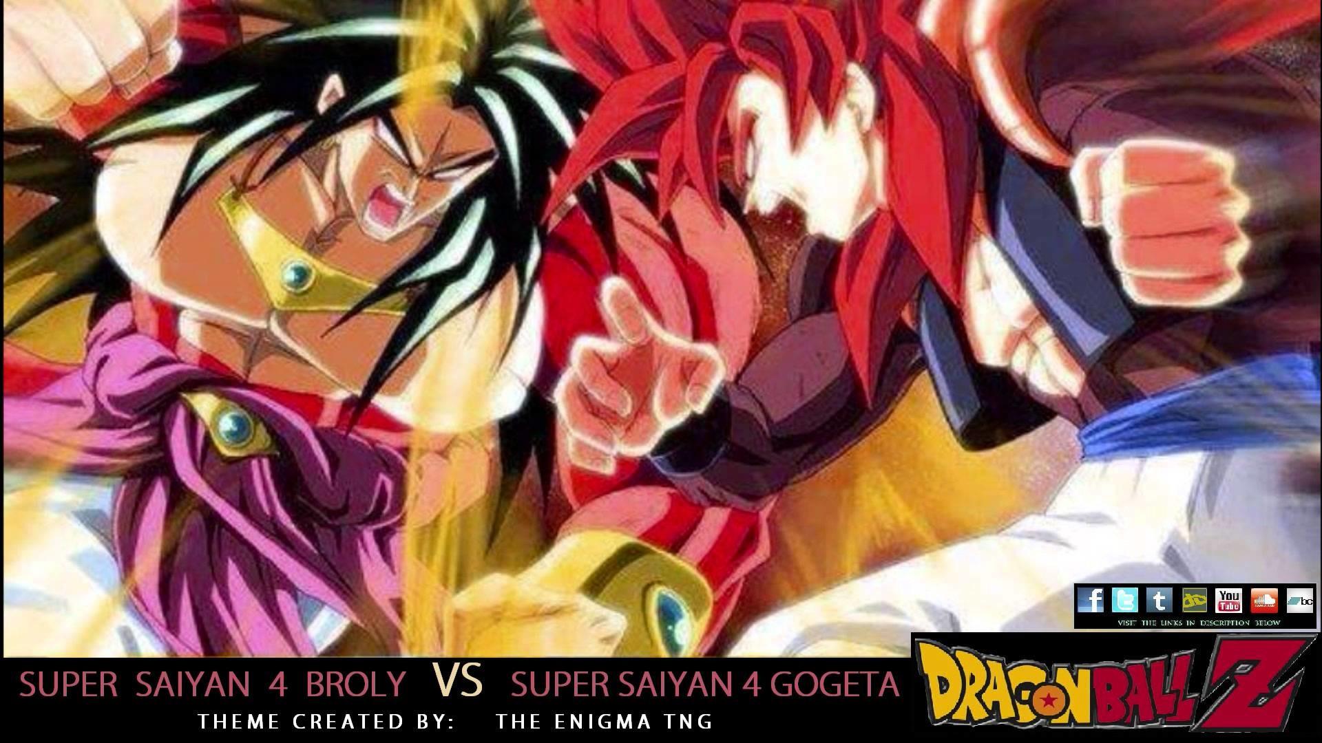 Dragon Ball Z – SS4 Broly VS SS4 Gogeta Theme (The Enigma TNG) – YouTube