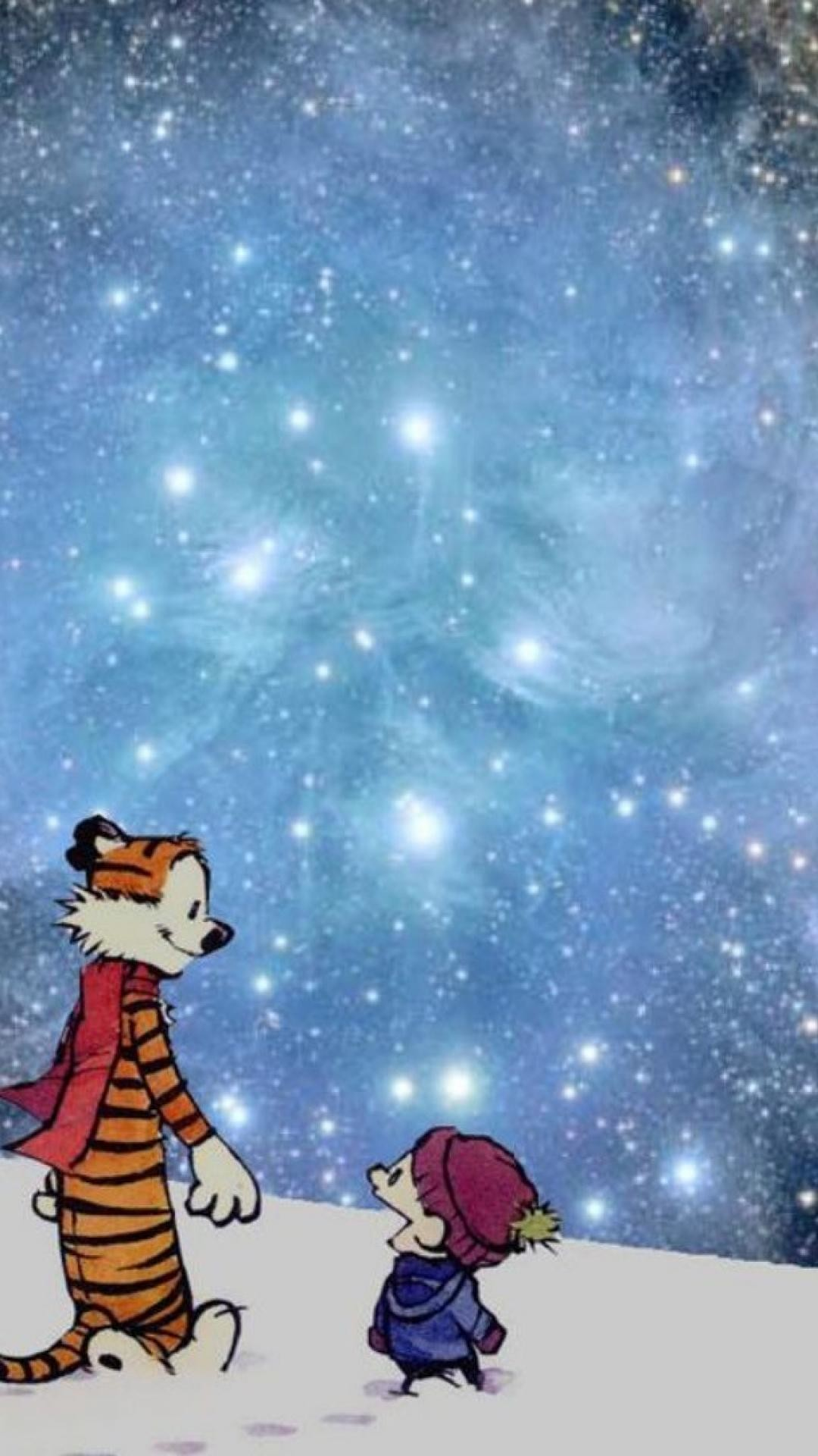 Snow outer space calvin and hobbes wallpaper | (40941)