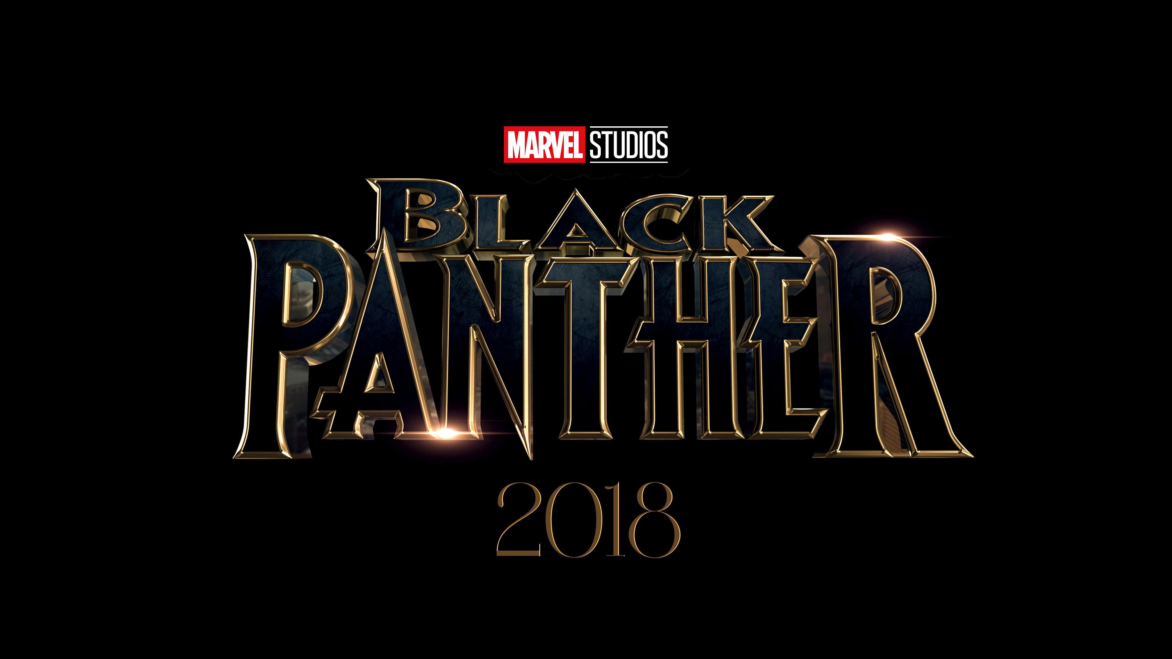 Black Panther, Marvel Studios, 2018, 4K, Logo