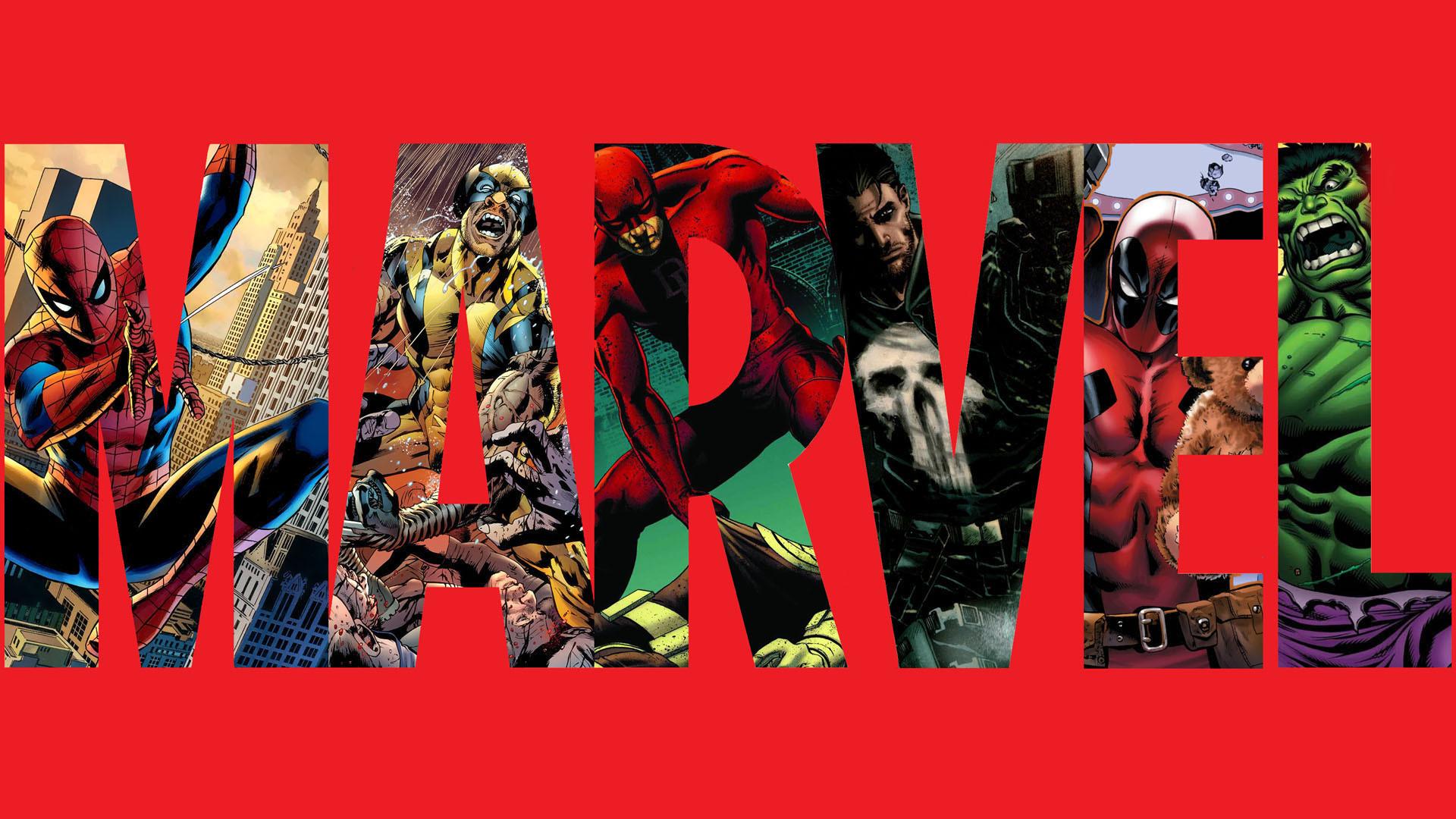 Marvel Red Spider-Man Wolverine DareDevil Punisher Deadpool Hulk The Hulk  HD wallpaper thumb