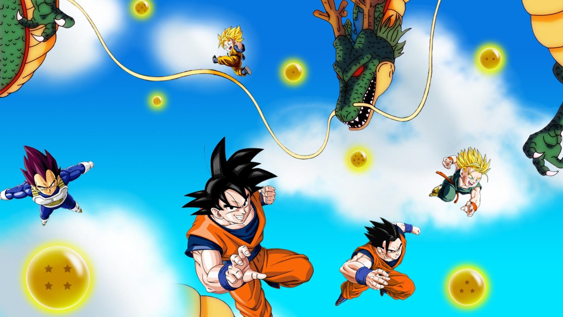 Dragon Ball Z Wallpaper kai saiyans Goku Vegeta