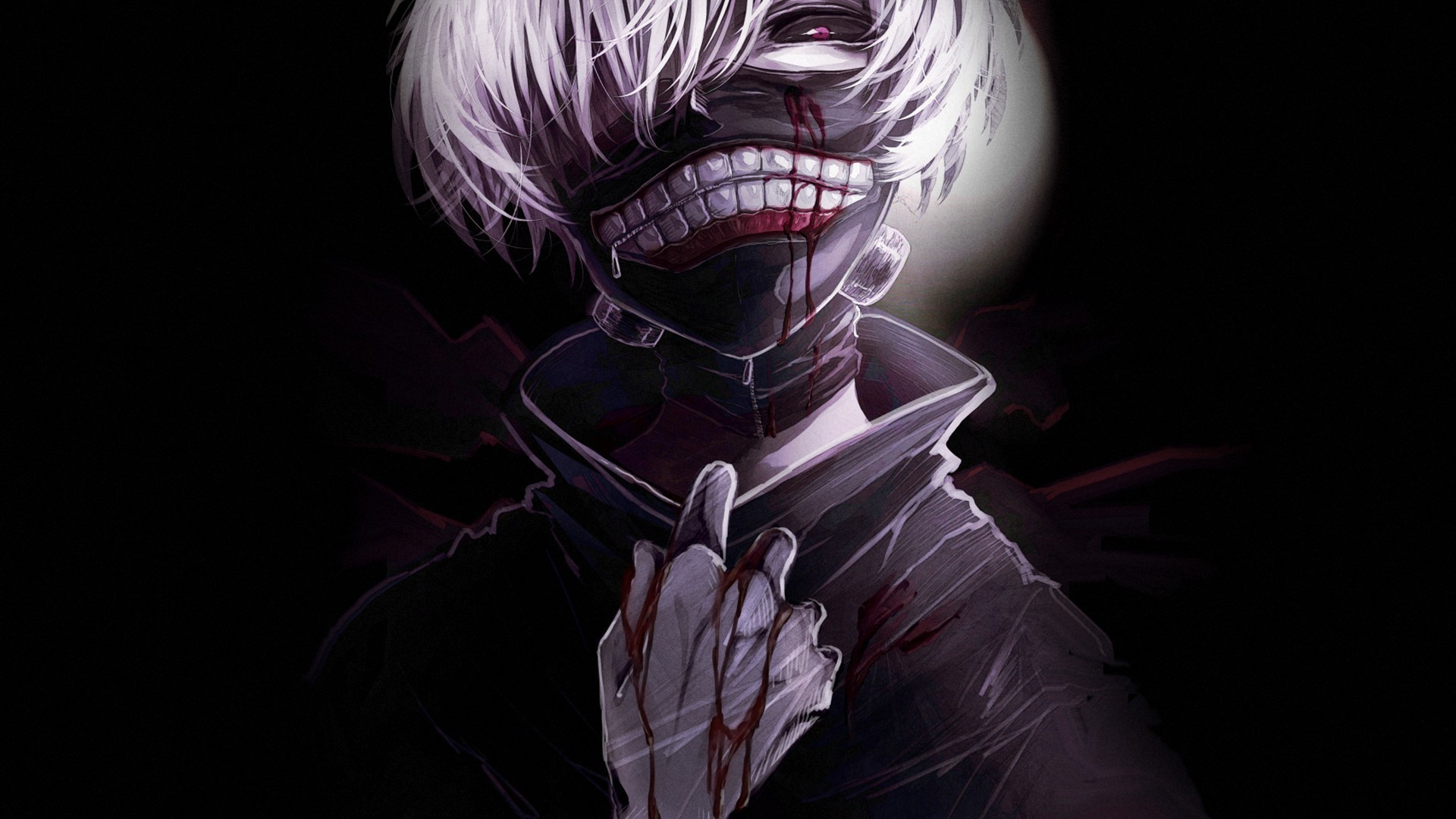 Tokyo Ghoul Ken Kaneki One-Eyed Ghoul Wearing Leather Mask HD wallpaper for  free