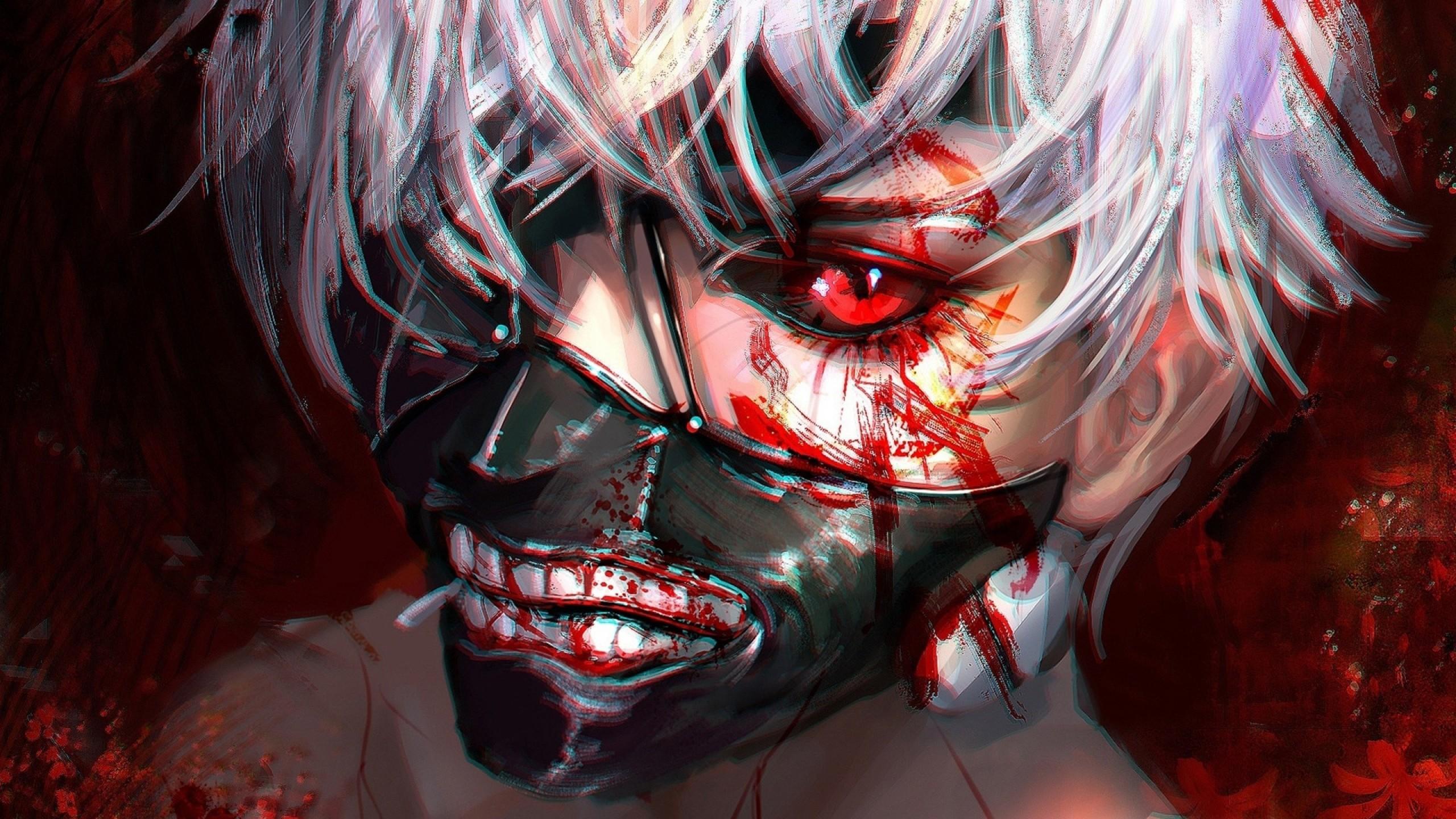 Ken Kaneki, Red Eyes, Mask, Tokyo Ghoul
