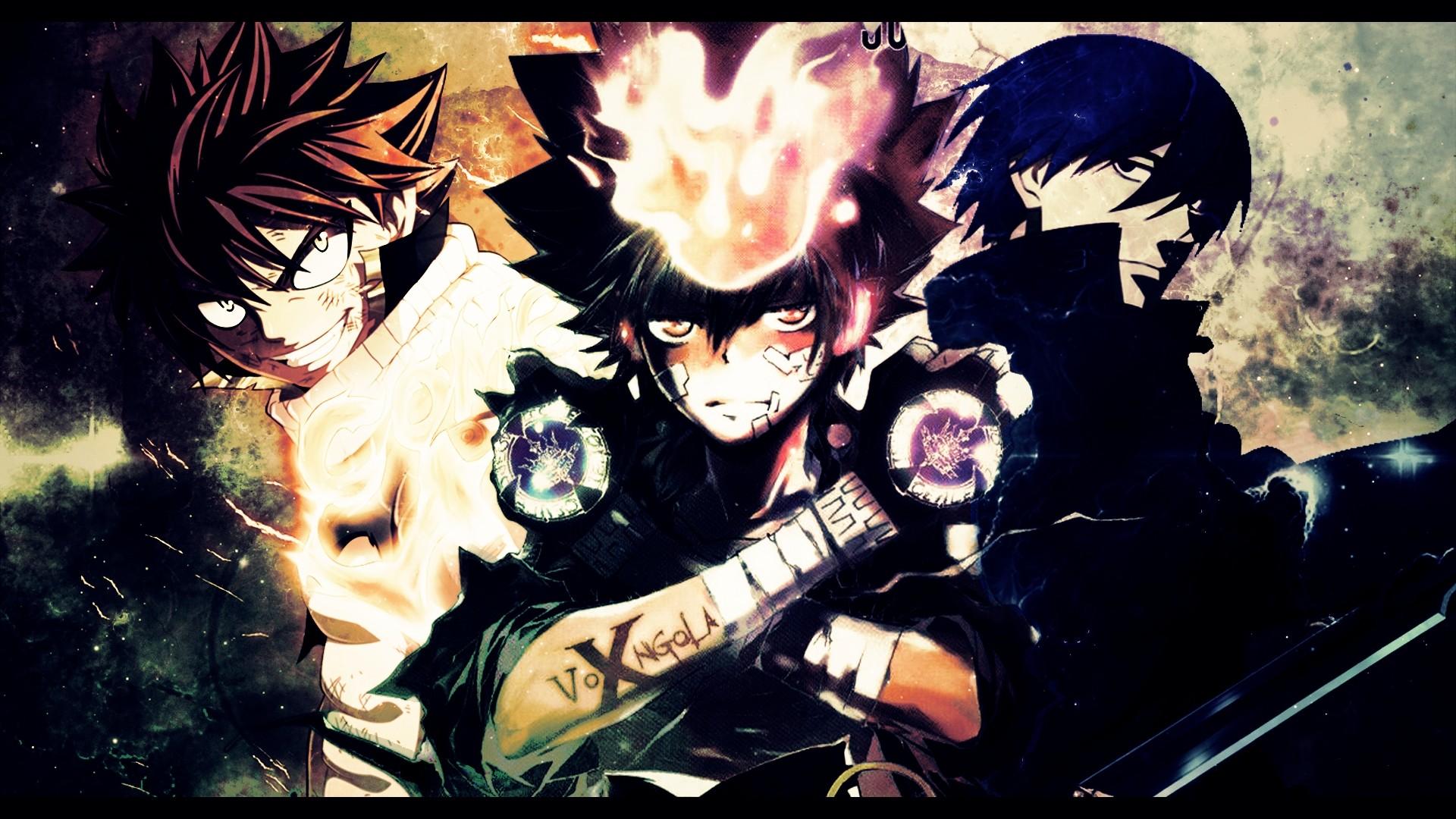 Anime Artwork Darker Than Black Dragneel Natsu Fairy Tail Flames Katekyo  Hitman Reborn
