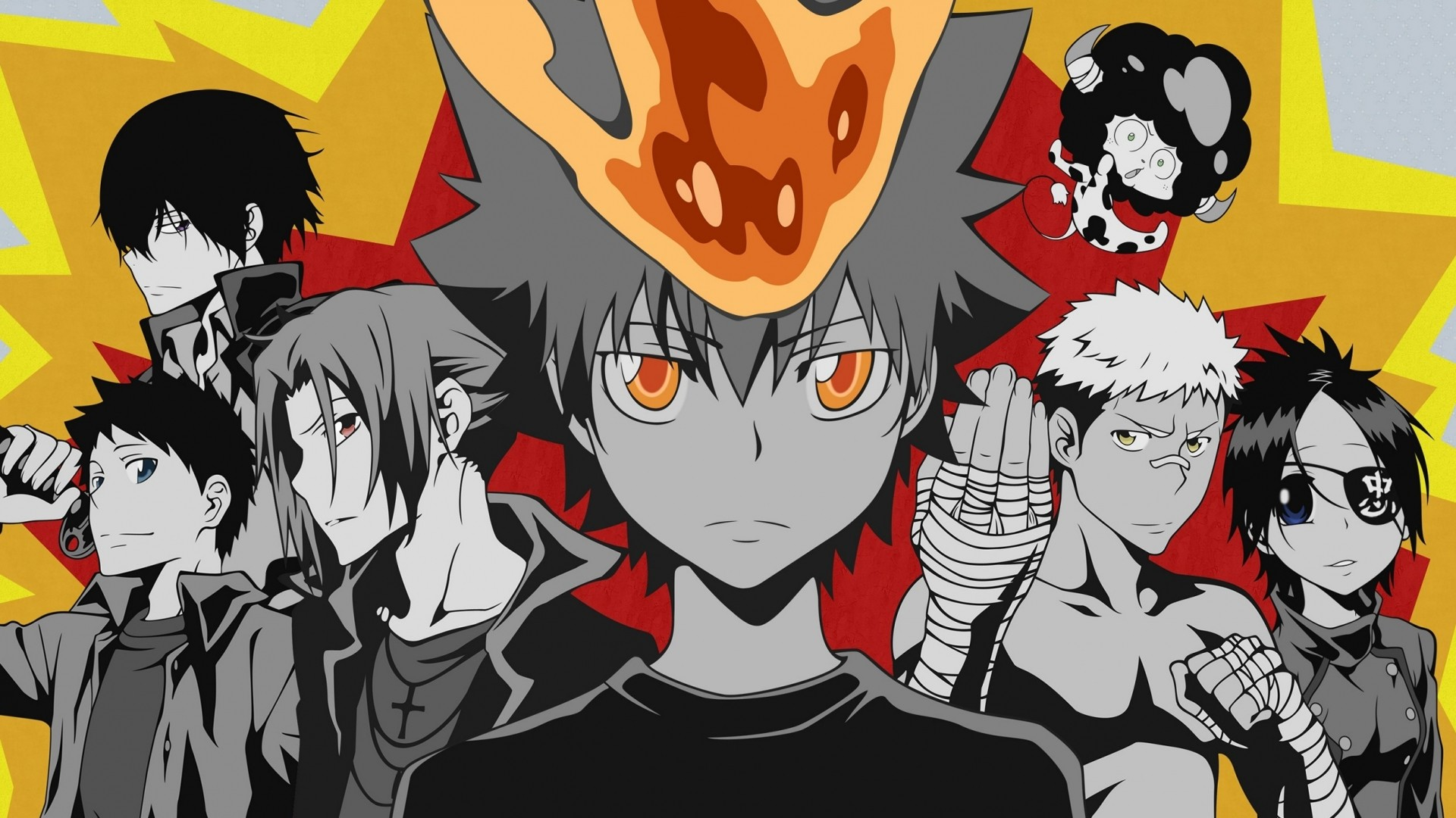 Download Katekyo Hitman Reborn Ghost Boy Crowd Background Popular