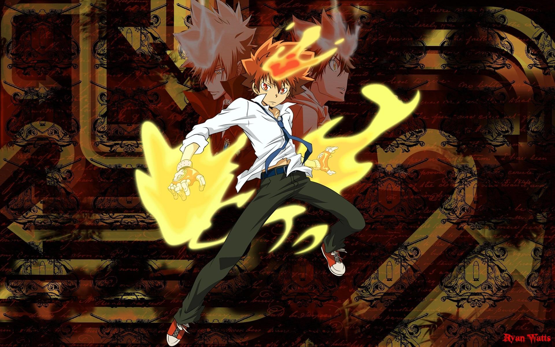 Anime – Katekyō Hitman Reborn! Tsunayoshi Sawada Wallpaper