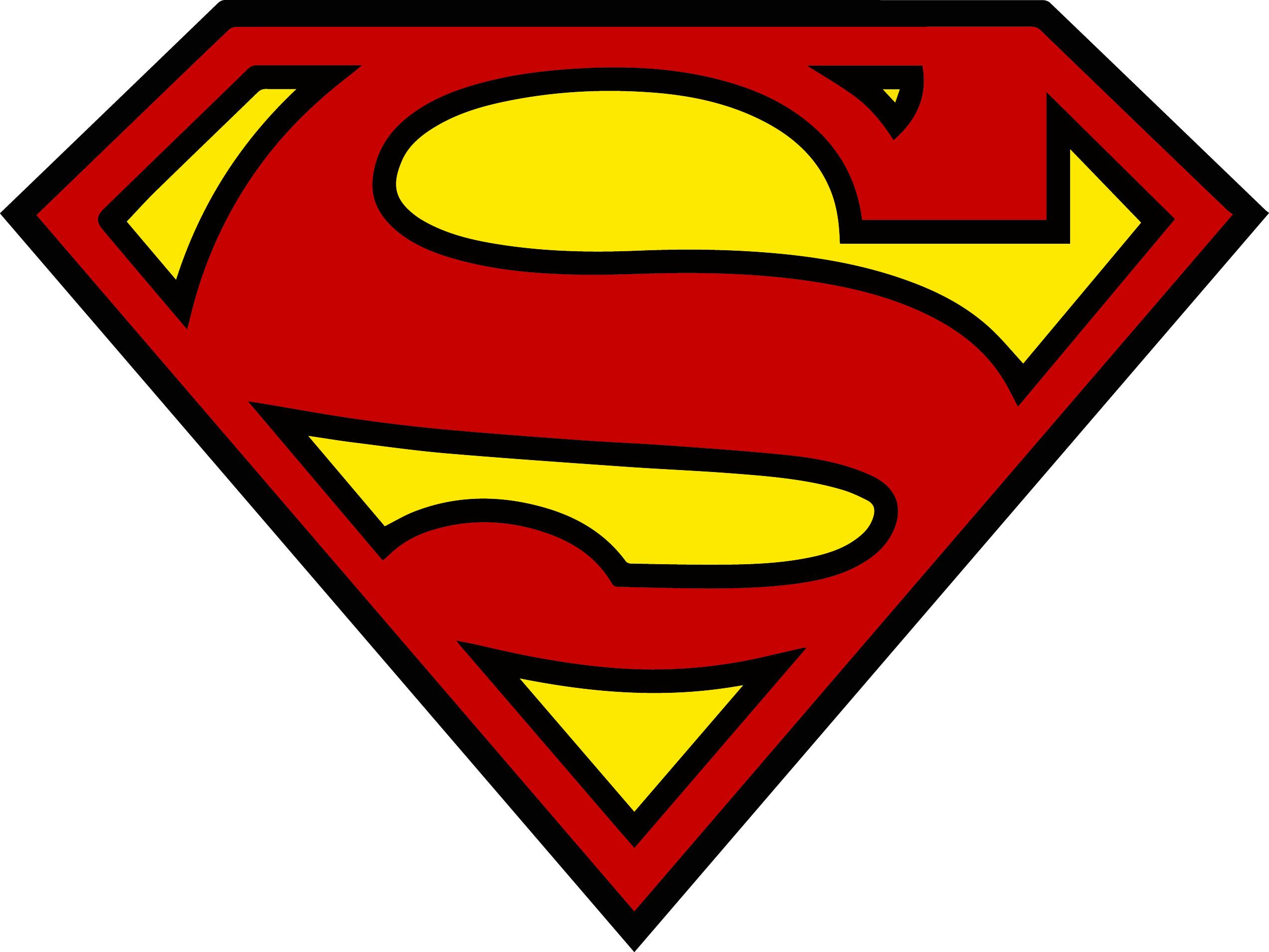 Superman Shield Logo Clip Art