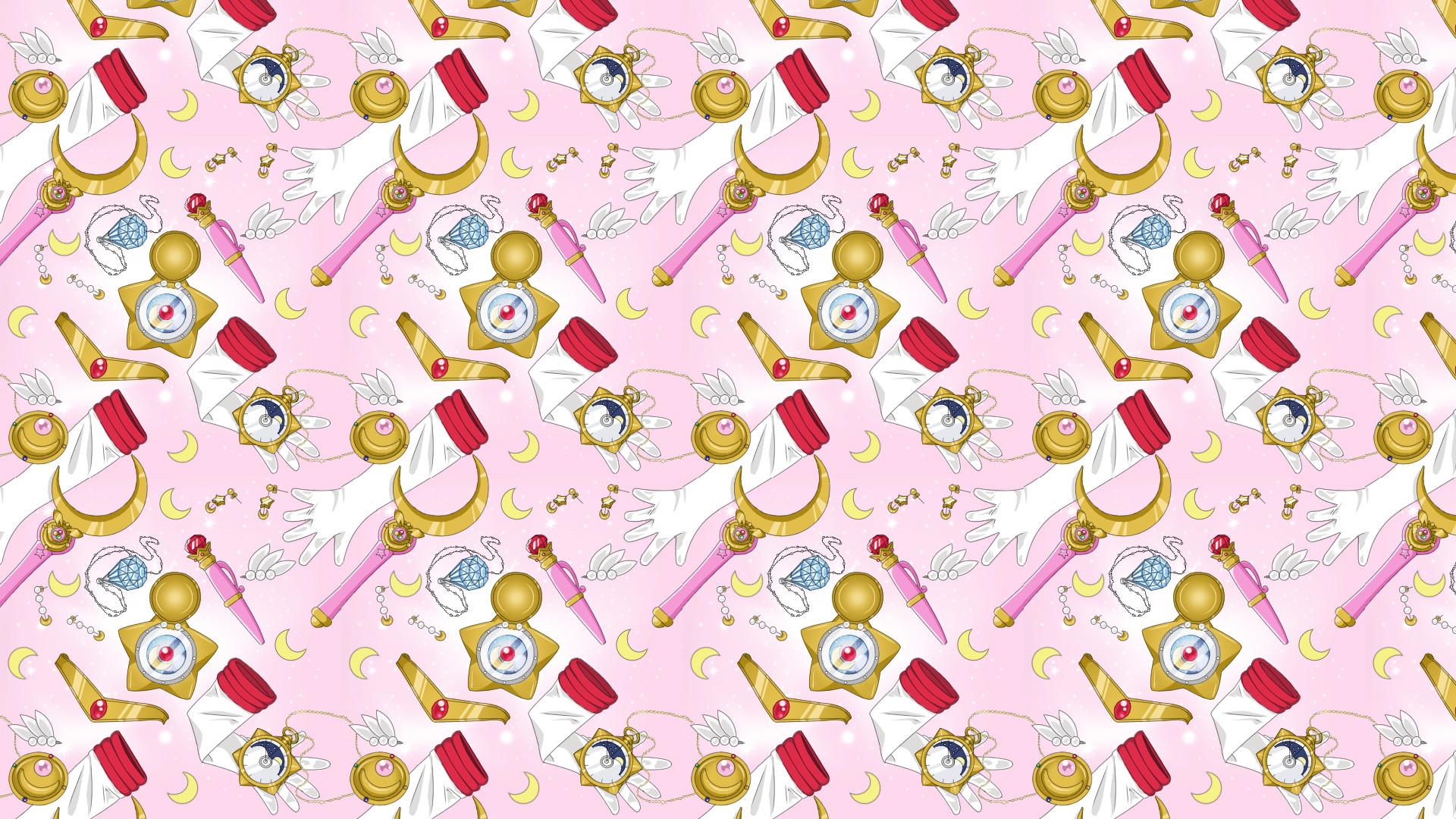 … Sailor Moon Repeating Pattern Sheet by Tsuki-ni-Kawatte