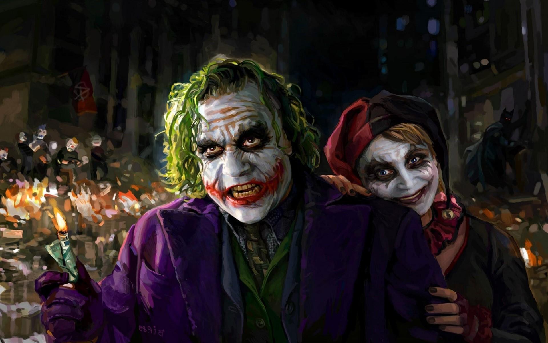 Harley Quinn, Joker, DC Comics, Artwork, Batman Wallpapers HD / Desktop and  Mobile Backgrounds