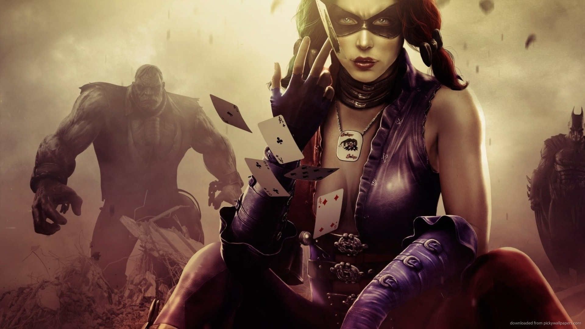 Harley Quinn Throwing Cards picture