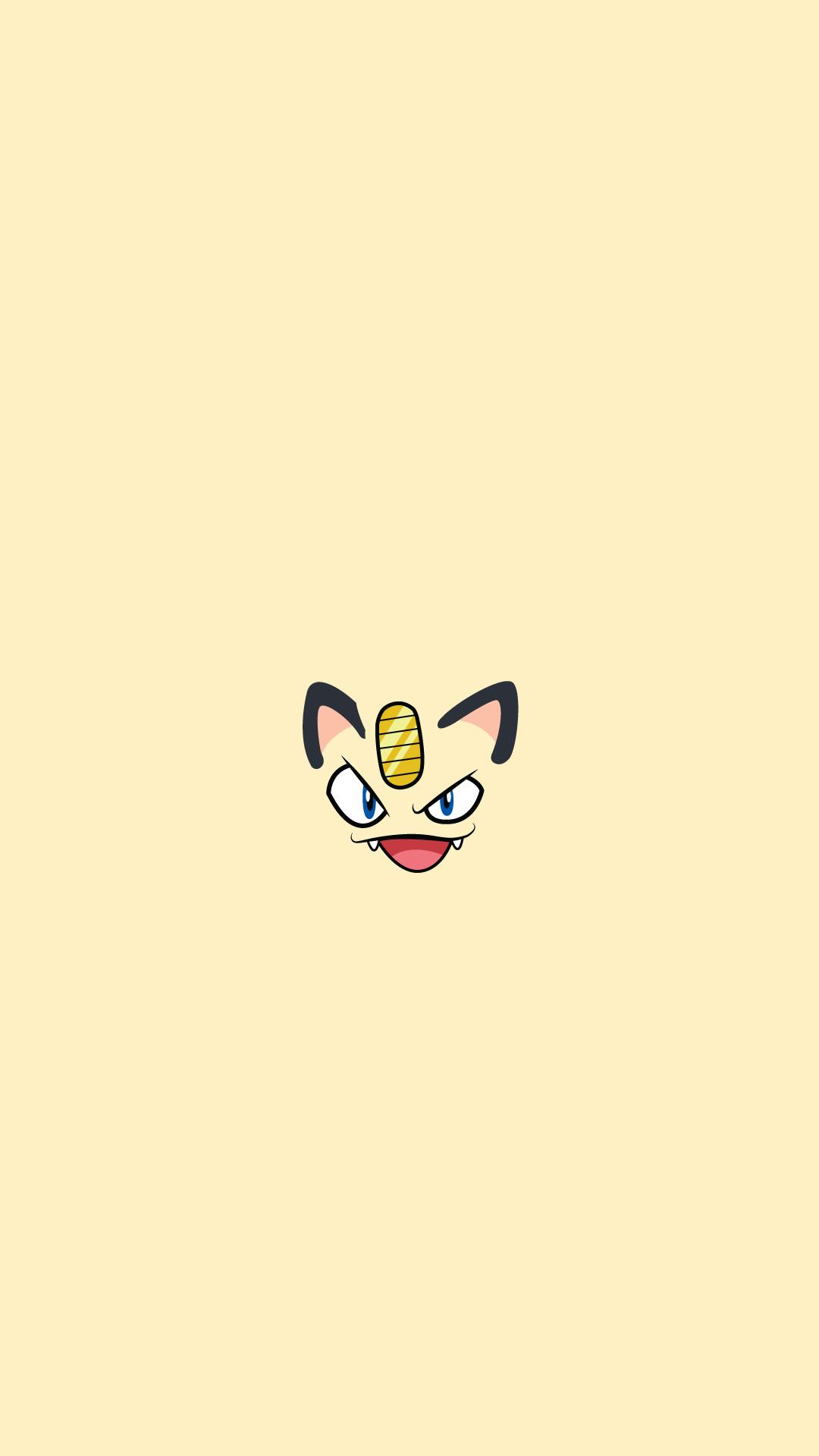 Meowth Pokemon Character iPhone 6+ HD Wallpaper …