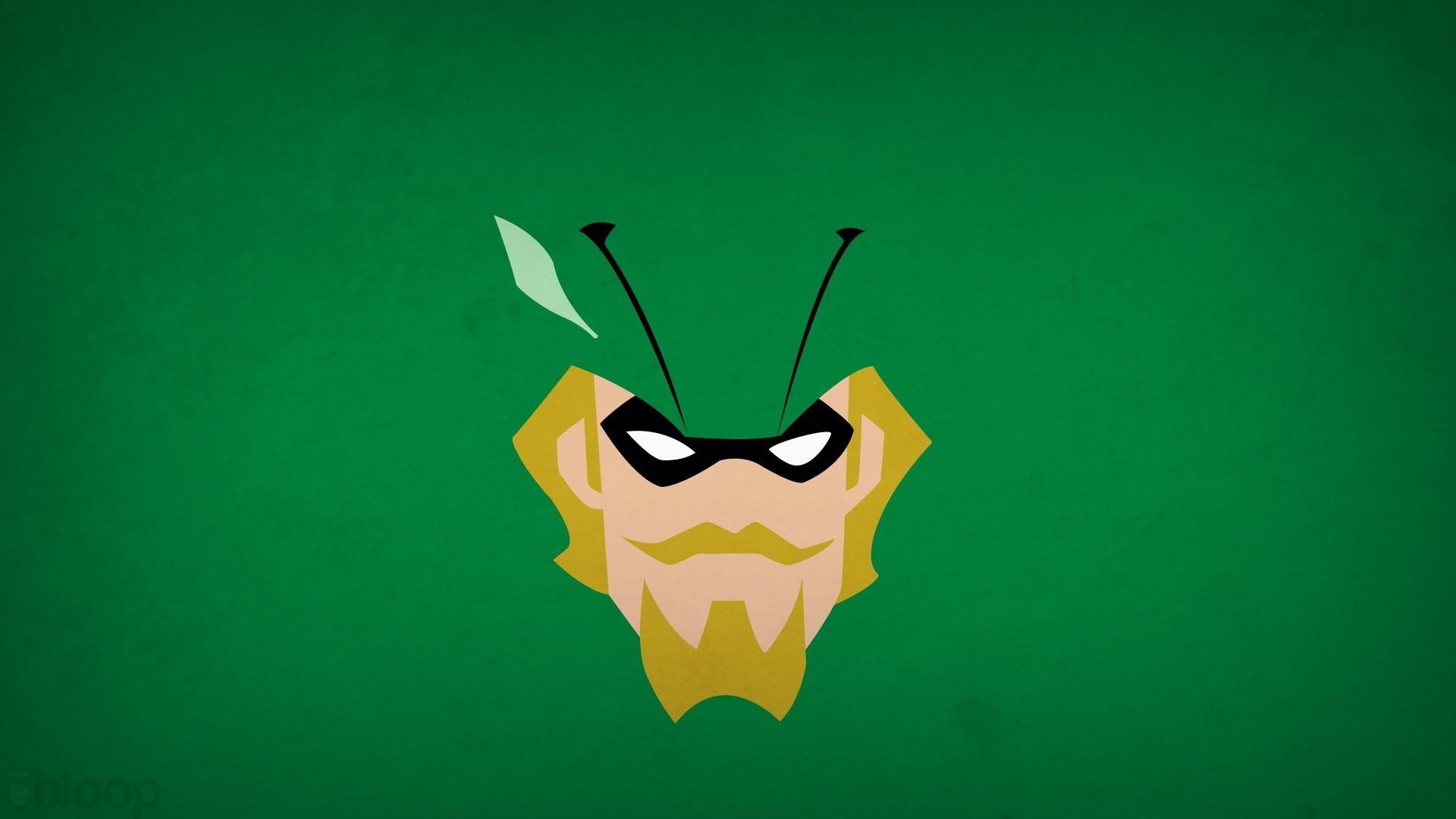 Green Arrow Minimalism 2048×1152 Resolution