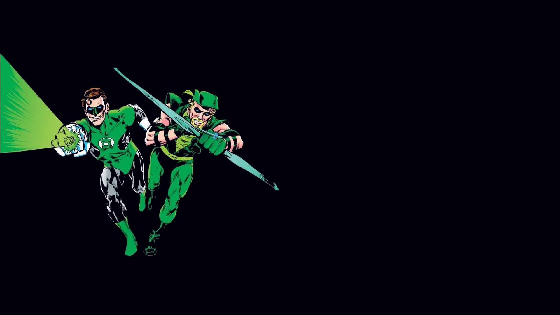 Comics – Collage Green Arrow Green Lantern Wallpaper