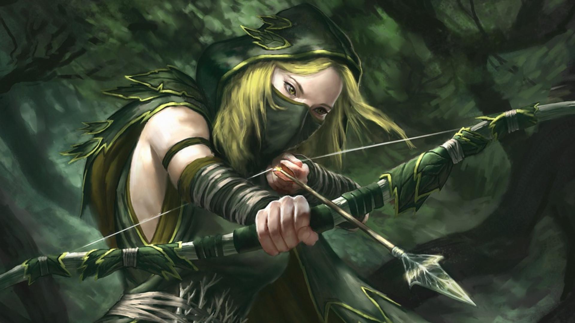 Shadow Sentinel by faxtar female archer in green. Green Arrow …