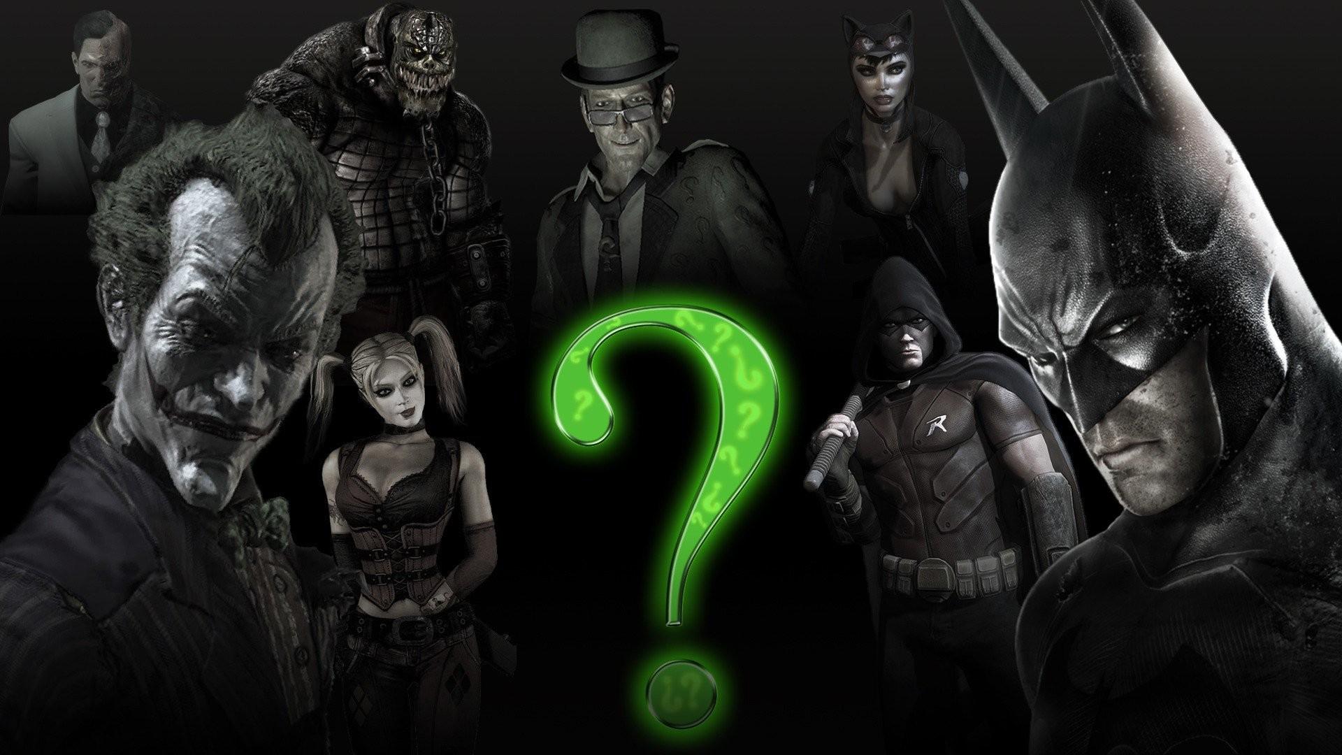 Batman Joker Harley Quinn The Riddler Killer Croc Arkham City Catwoman Two  Face Video Games
