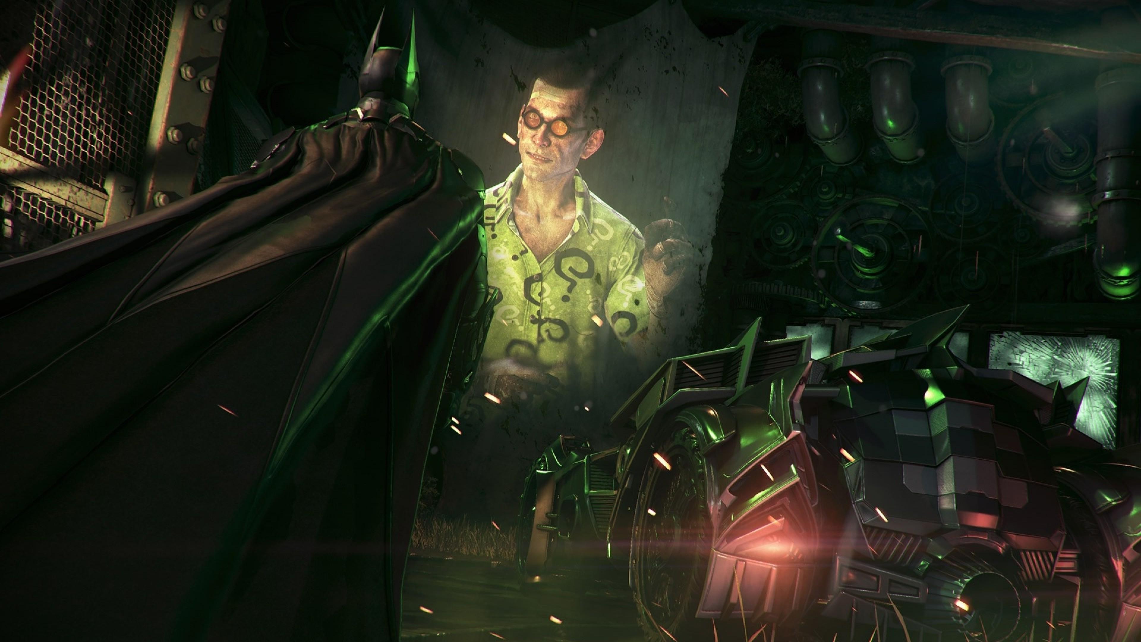 Batman: Arkham Knight, Rocksteady Studios, Batman, Batmobile, Gotham City,  Video Games, The Riddler Wallpapers HD / Desktop and Mobile Backgrounds