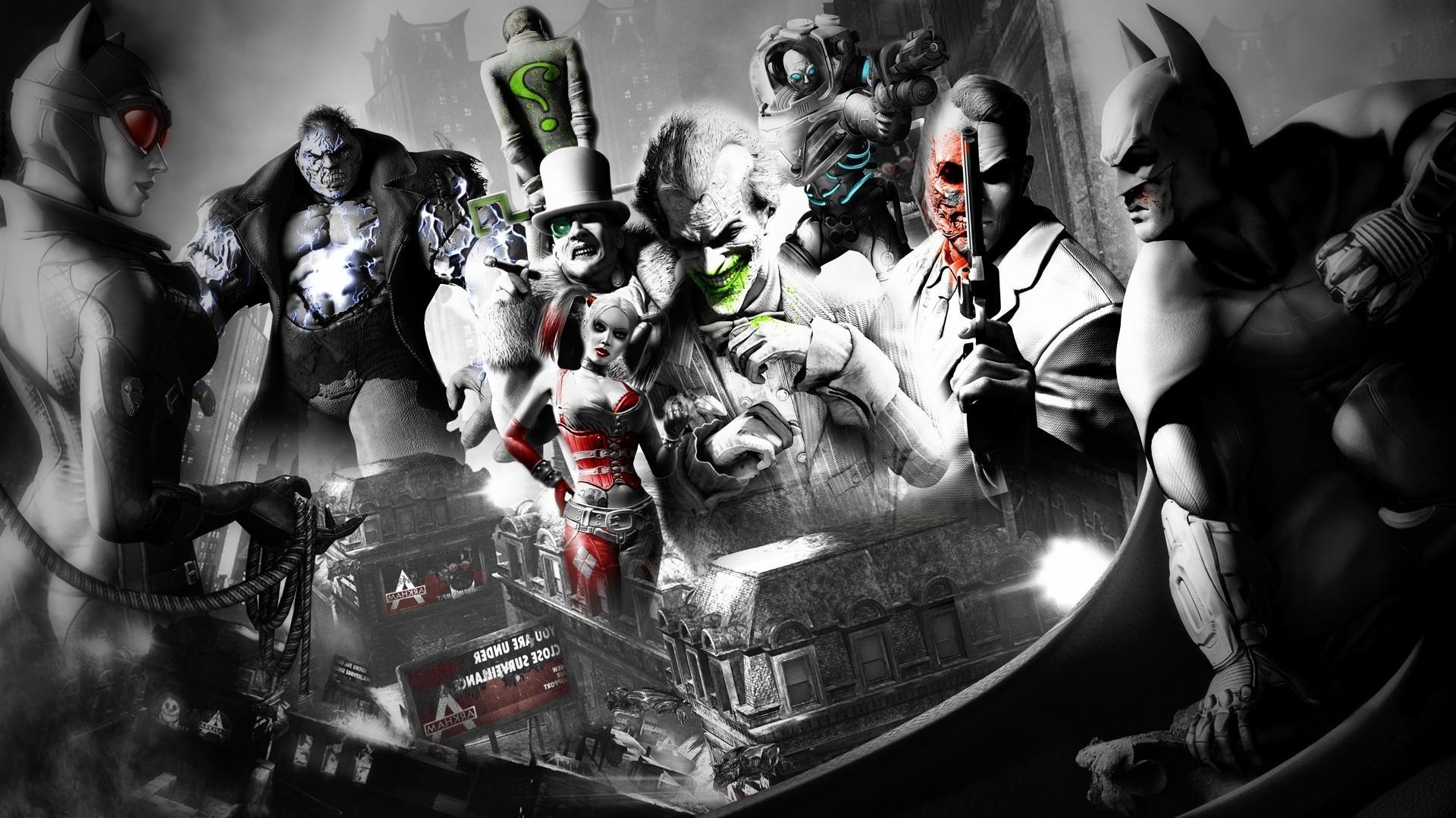 Batman, Joker, Video Games, Batman: Arkham City, Rocksteady Studios, Robin  (character), Catwoman, Mr. Freeze, The Riddler, Two Face Wallpapers HD /  Desktop …