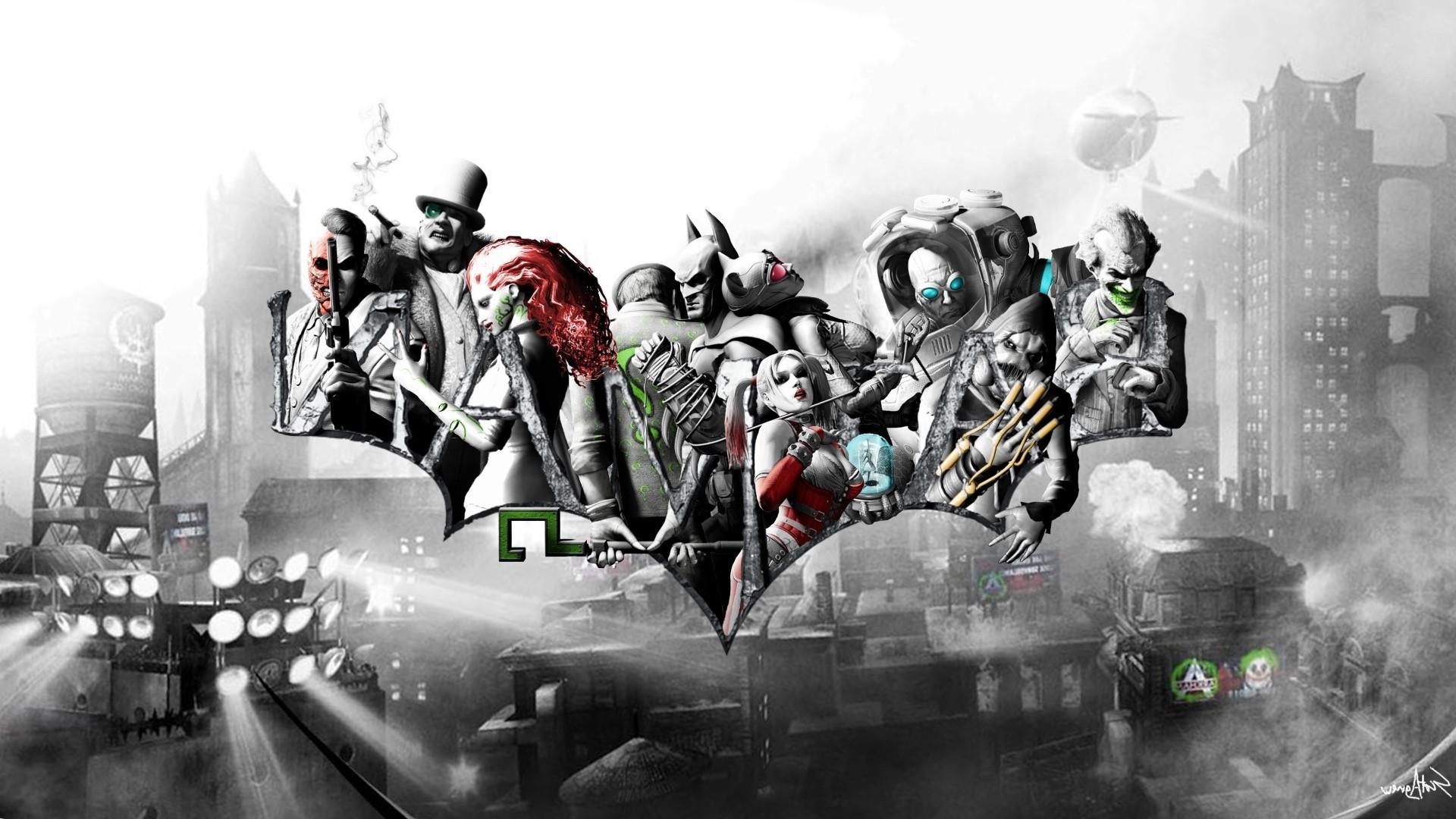 … Mr Freeze, Joker, Scarecrow (character), Catwoman, The Riddler, Harley  Quinn, Batman: Arkham City Wallpapers HD / Desktop and Mobile Backgrounds