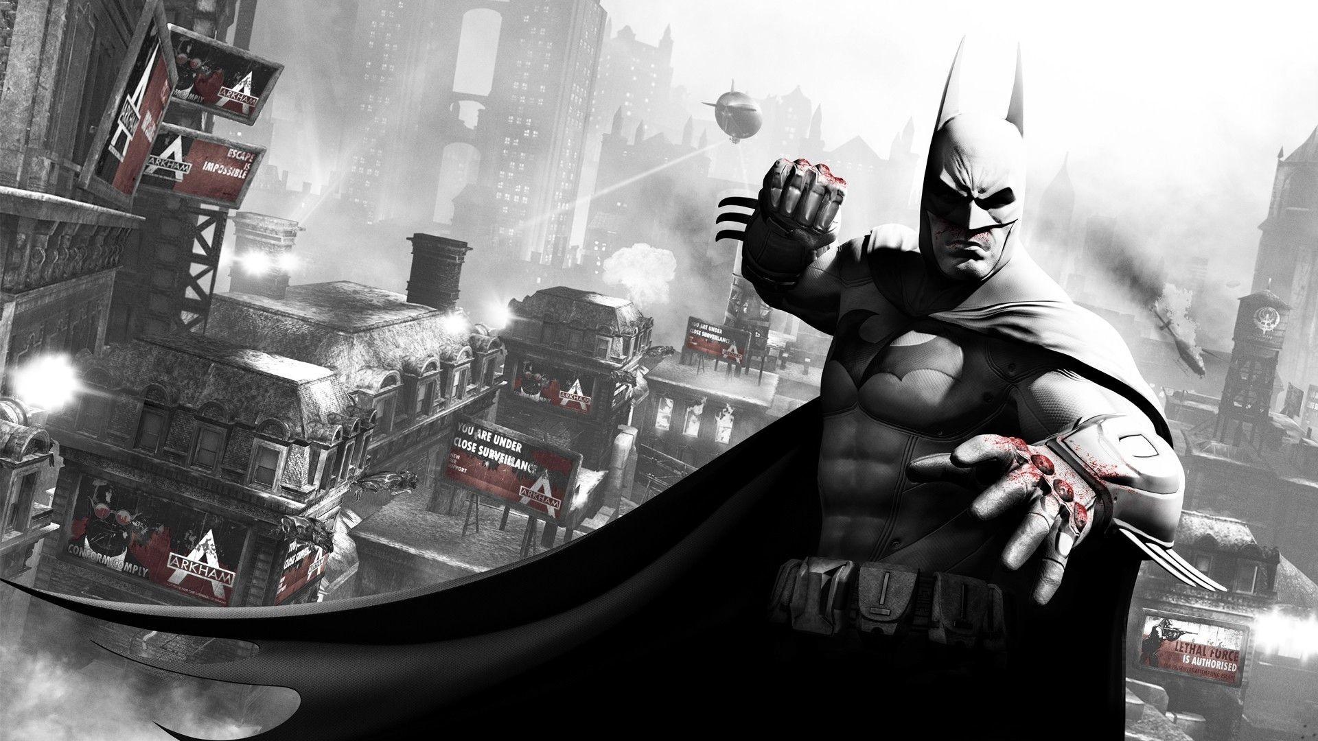 Download Wallpaper Batman arkham city, Character, Blood .