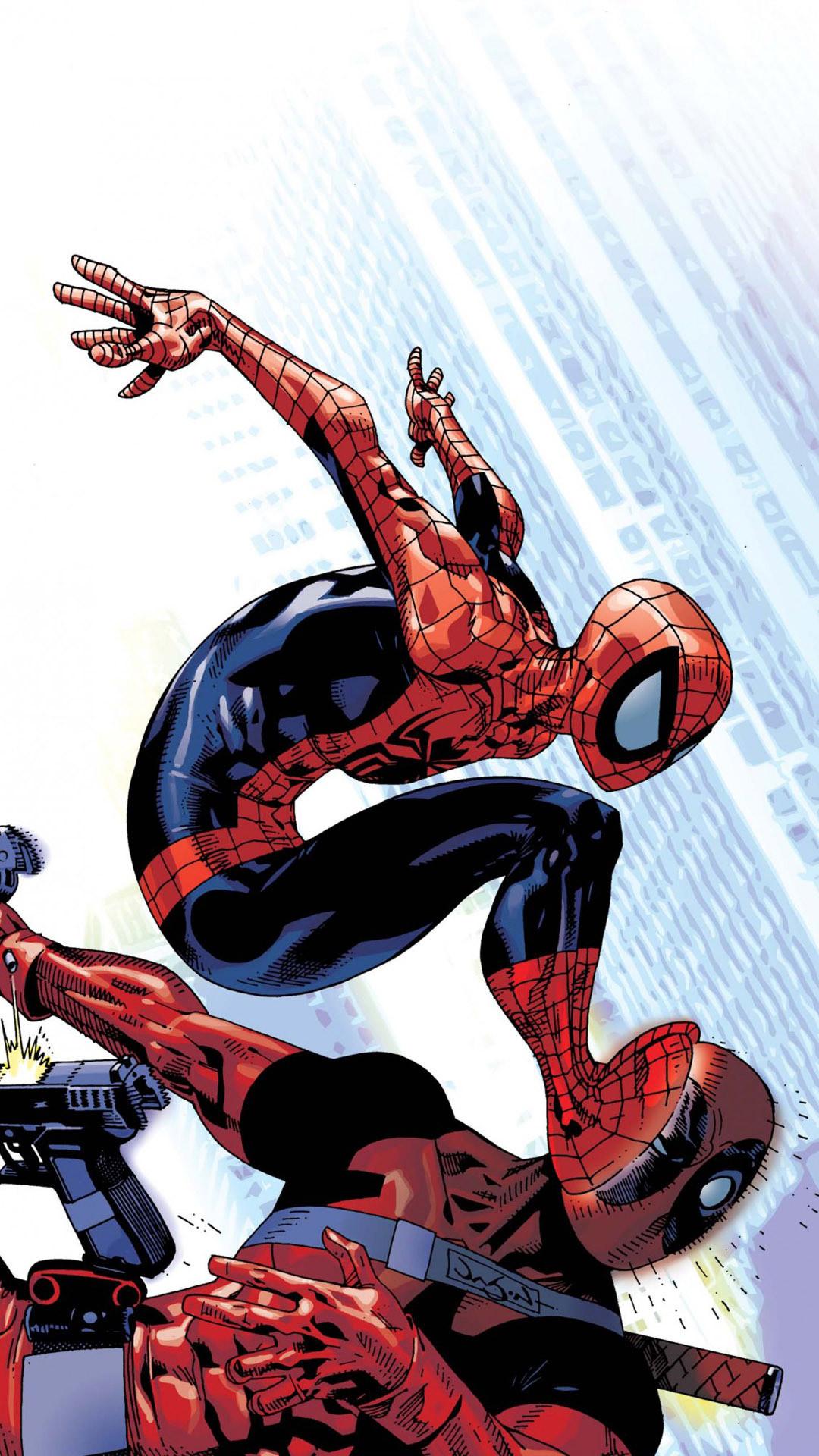 Spider-Man vs Deadpool Wallpaper
