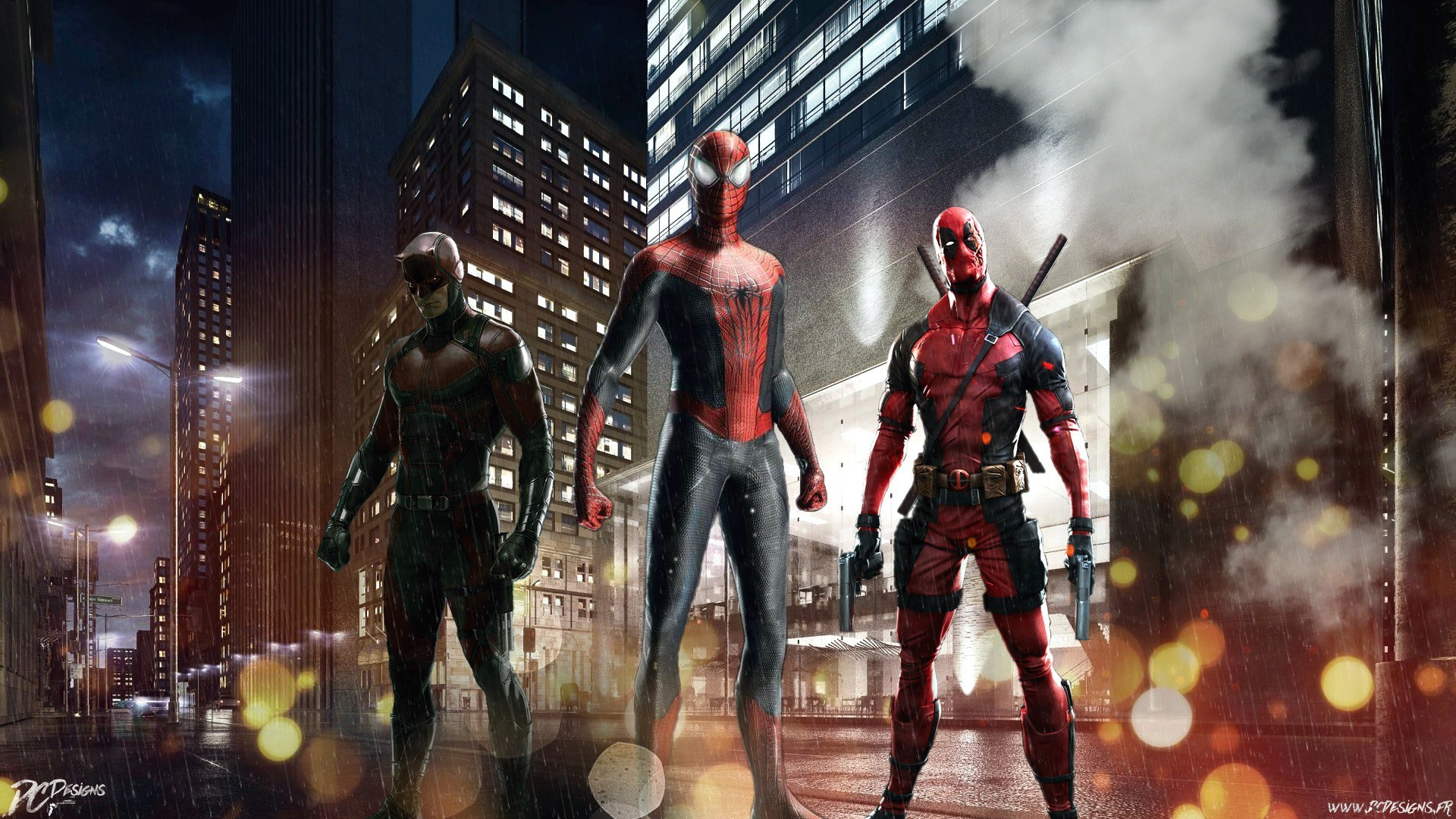 Red team, spider man, deadpool, daredevil wallpaper thumb