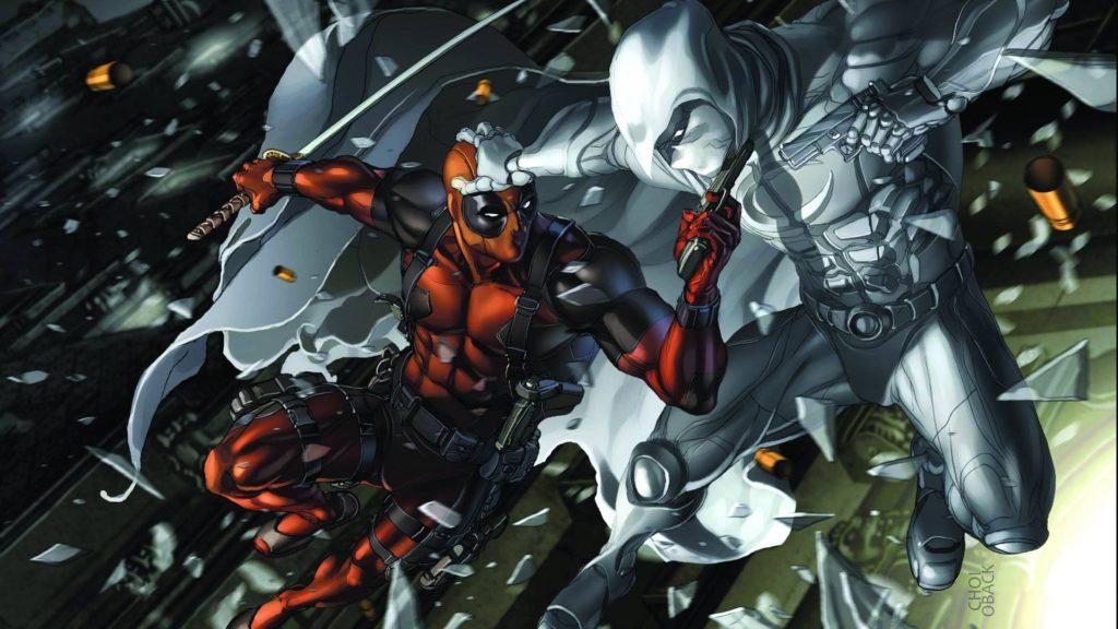 Deadpool And Moon Knight; spiderman …