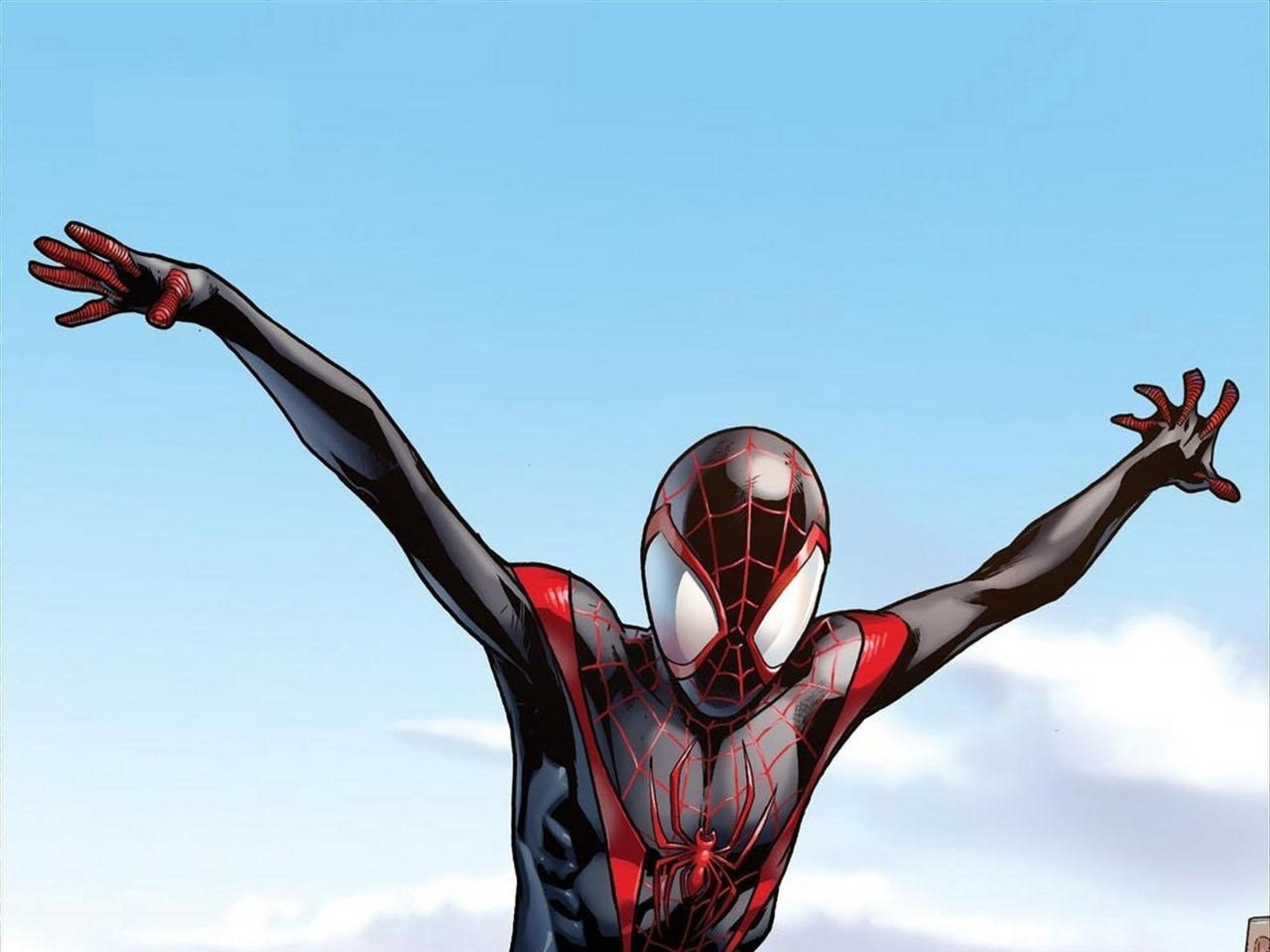 comics spiderman superheroes ultimate spiderman miles morales 1280×1830  wallpaper Art HD Wallpaper